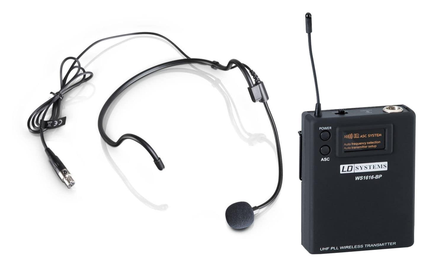 Mikrofone - LD Systems WS 100 MH 1 Headset Set inkl. Taschensender - Onlineshop Musikhaus Kirstein