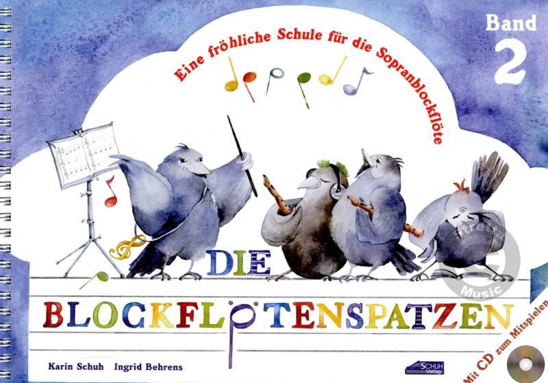 Floetelernen - Die Blockflötenspatzen 2 mit CD - Onlineshop Musikhaus Kirstein