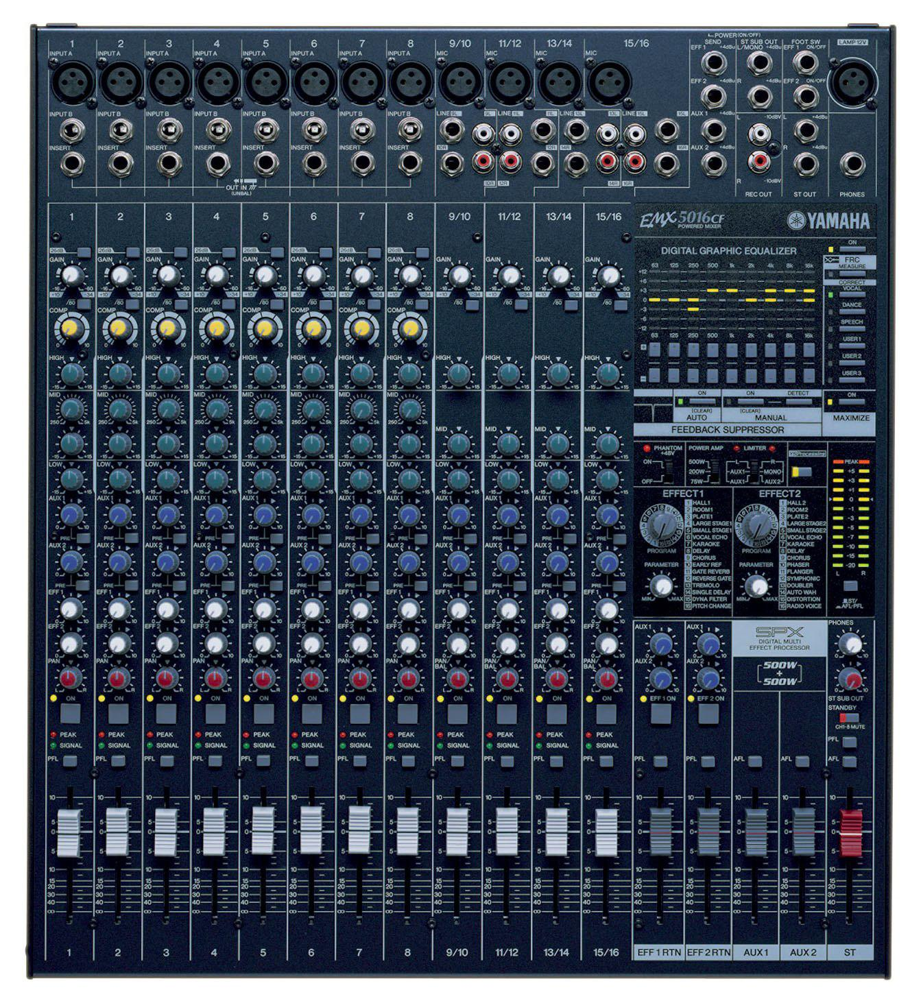 Yamaha EMX 5016 CF Powermischer, 16 Kanal