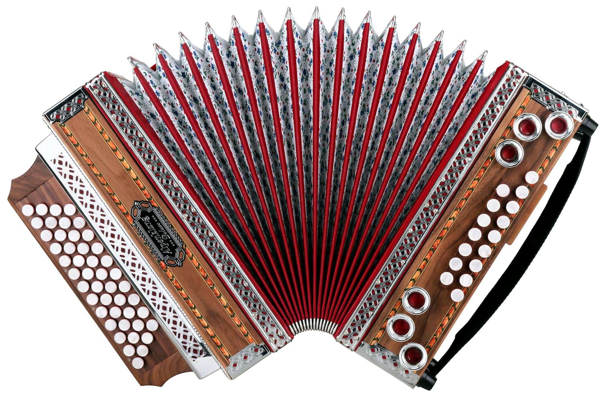 "Alpenklang 4/III Harmonika ""Deluxe"" B-Es-As-Des Nuss"