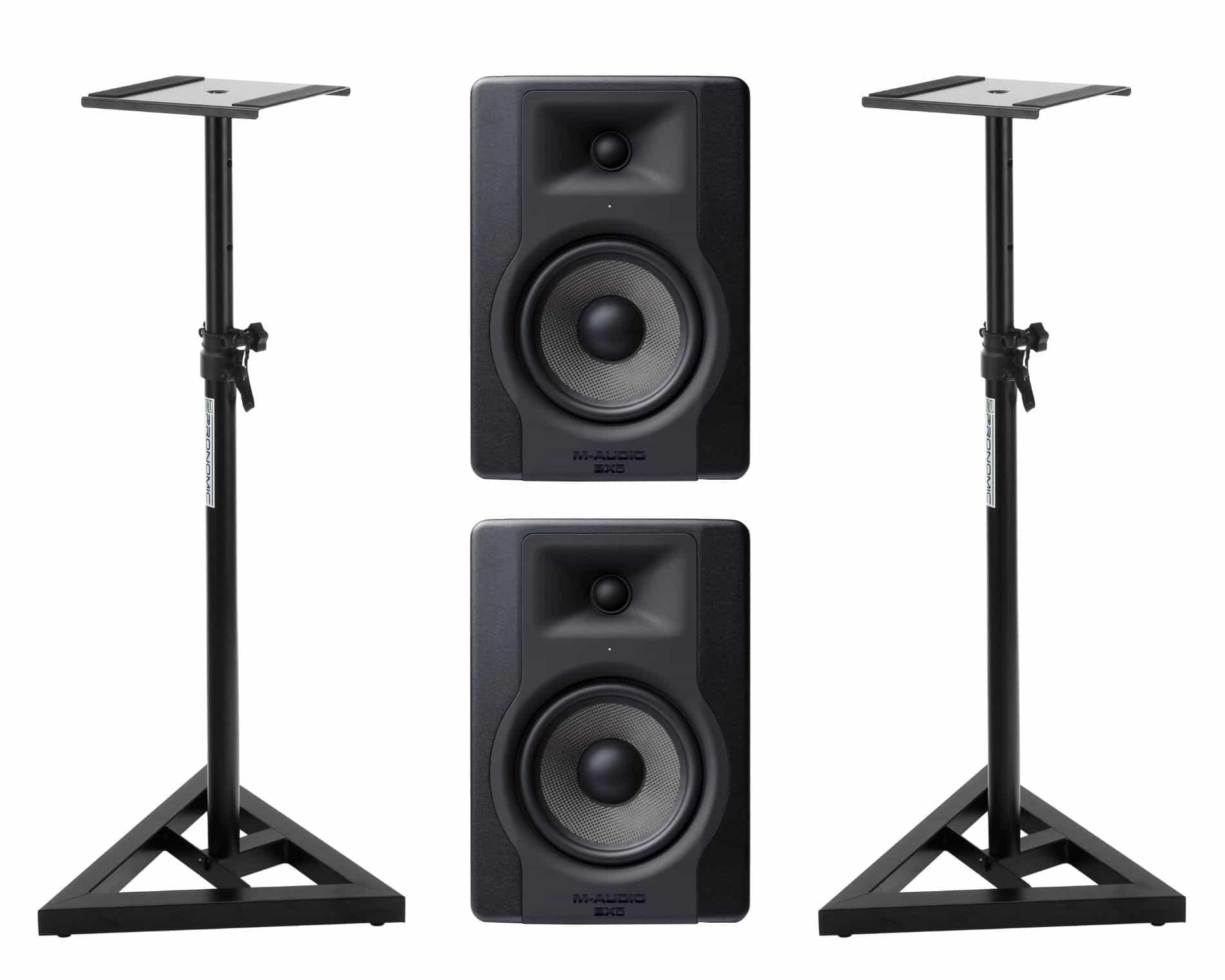 Studiomonitore - M Audio BX5 D3 Studiomonitor Stativ Set - Onlineshop Musikhaus Kirstein