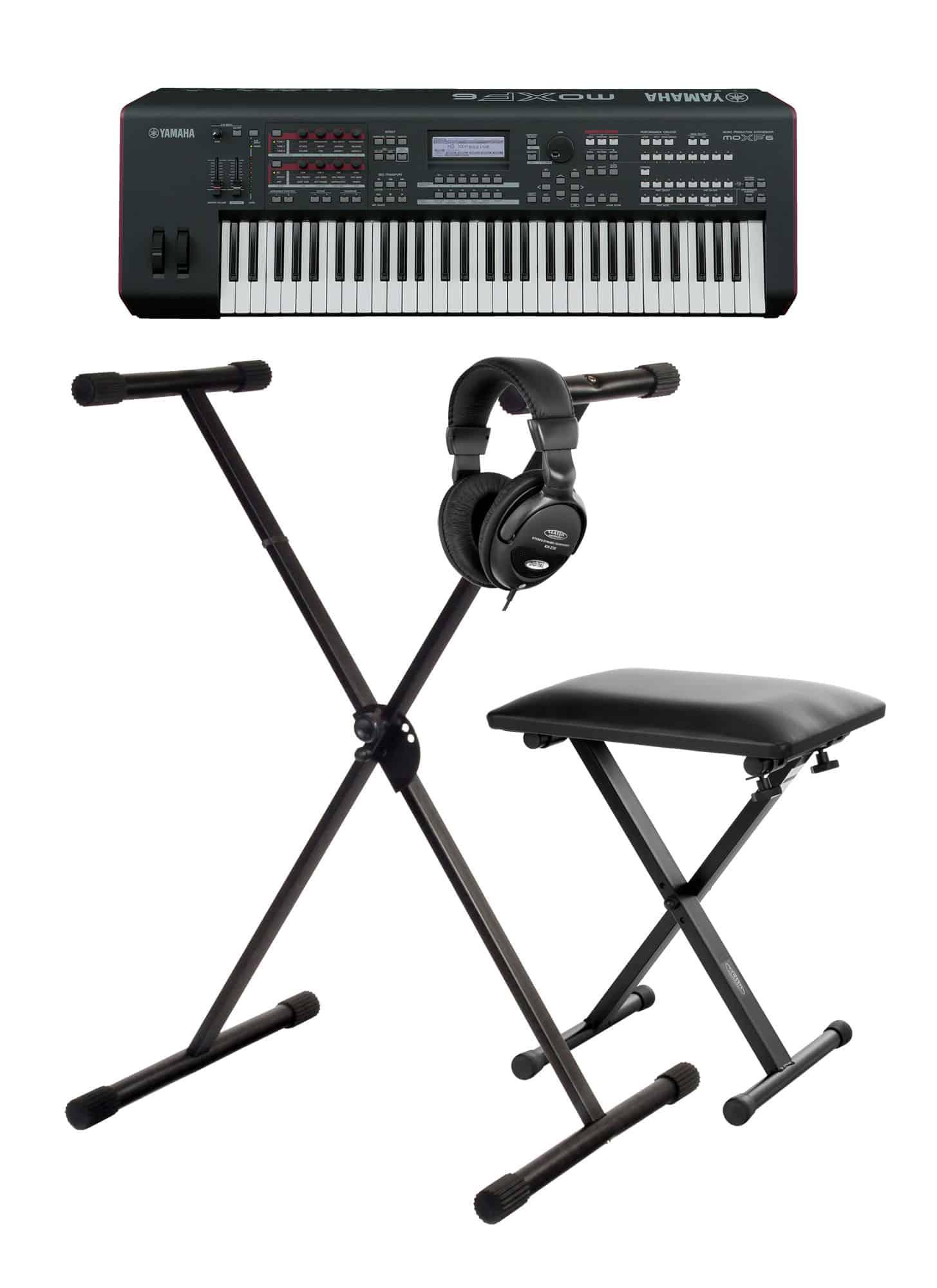 Yamaha MOX F6 Synthesizer SET mit Ständer, Bank und Kopfhörern