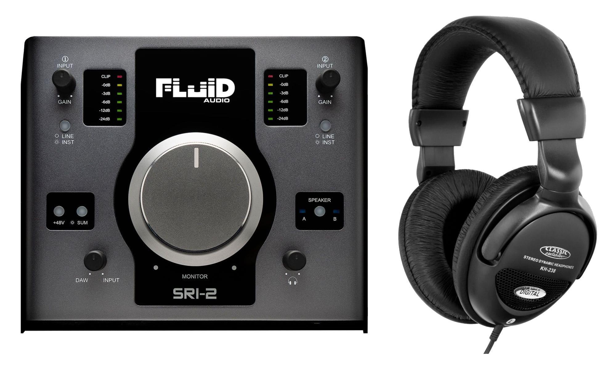 Pchardware - Fluid Audio SRI 2 USB Audio Interface Set - Onlineshop Musikhaus Kirstein