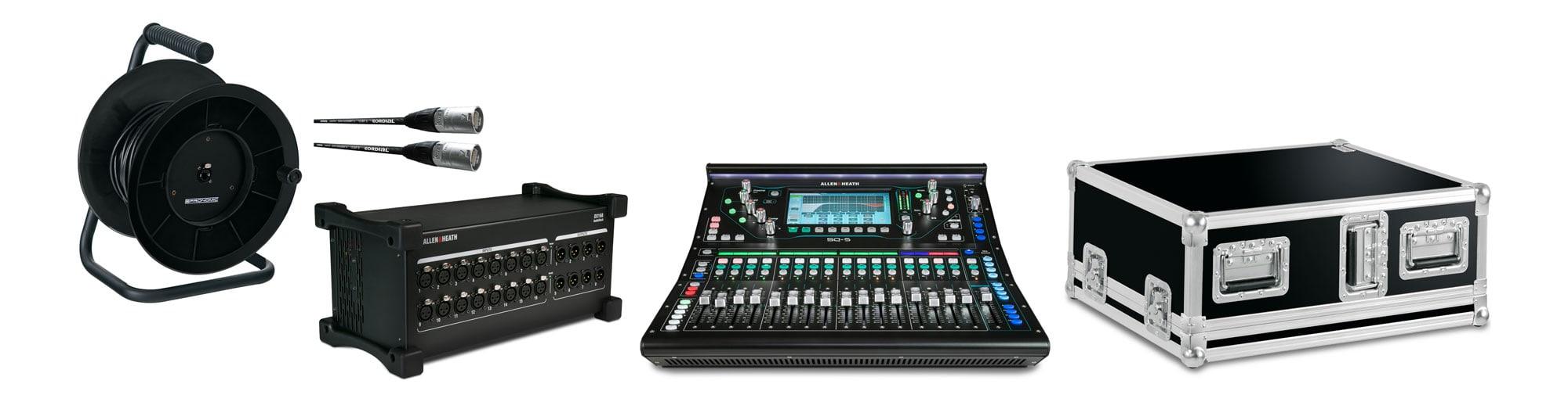 Mischpulte - Allen Heath SQ5 Digital Mischpult DX168 X Set mit Case - Onlineshop Musikhaus Kirstein