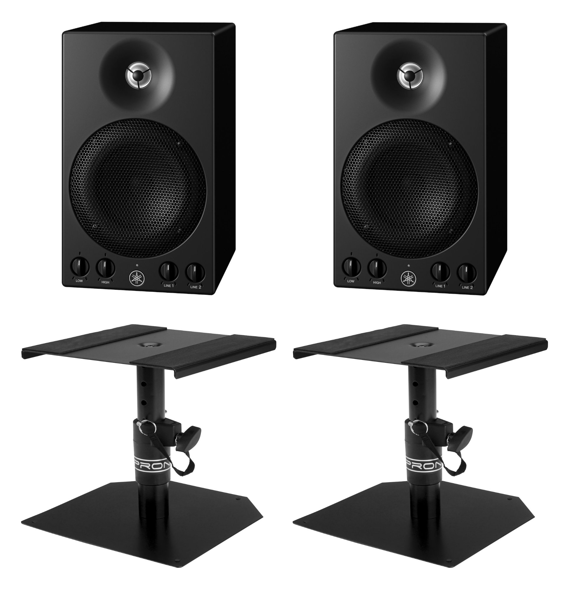 Studiomonitore - Yamaha MSP3A Aktive Studiomonitore Stative Set - Onlineshop Musikhaus Kirstein