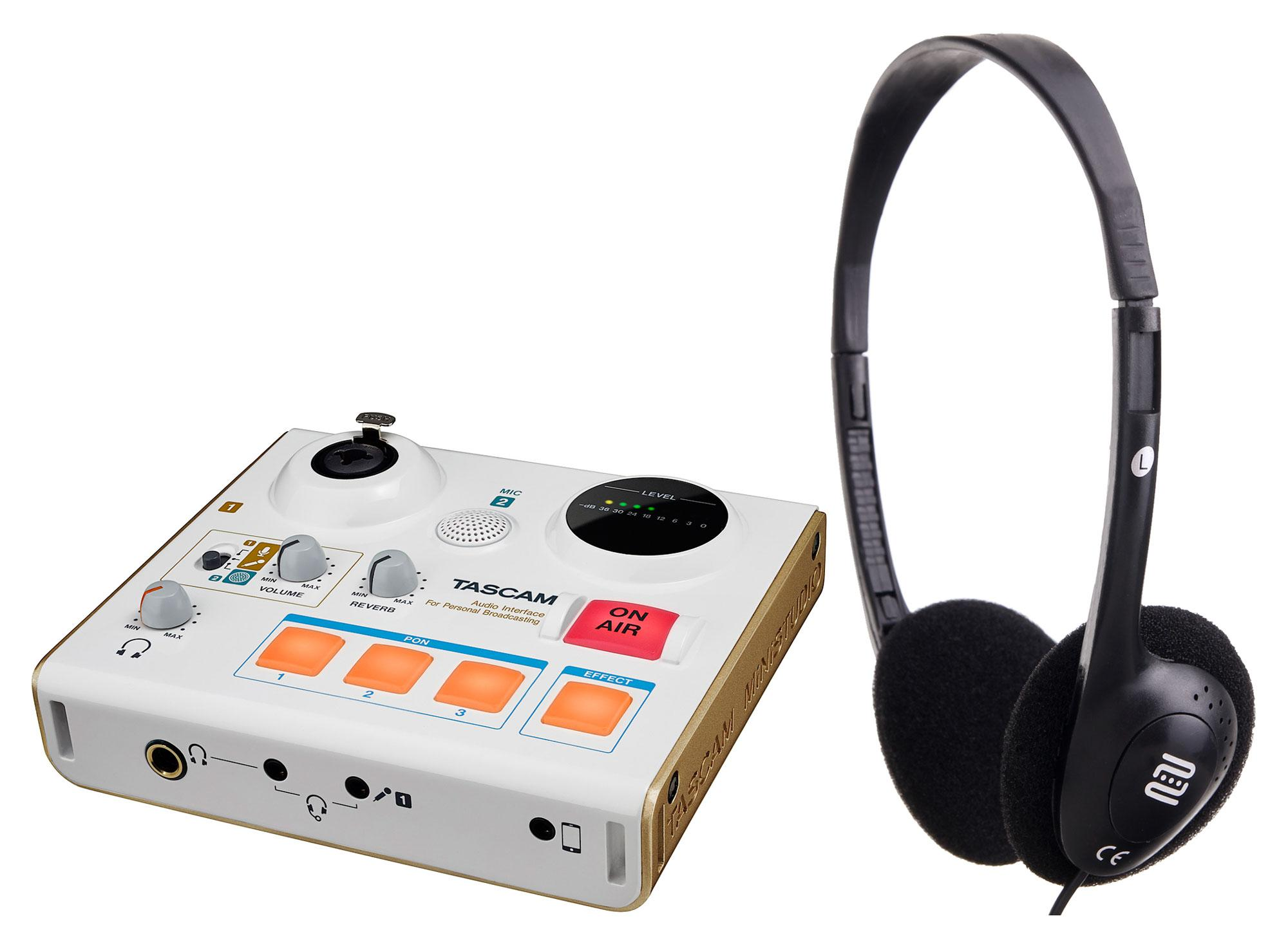 Tascam US 32 MiNiSTUDIO Creator Interface SET mit Kopfhörer