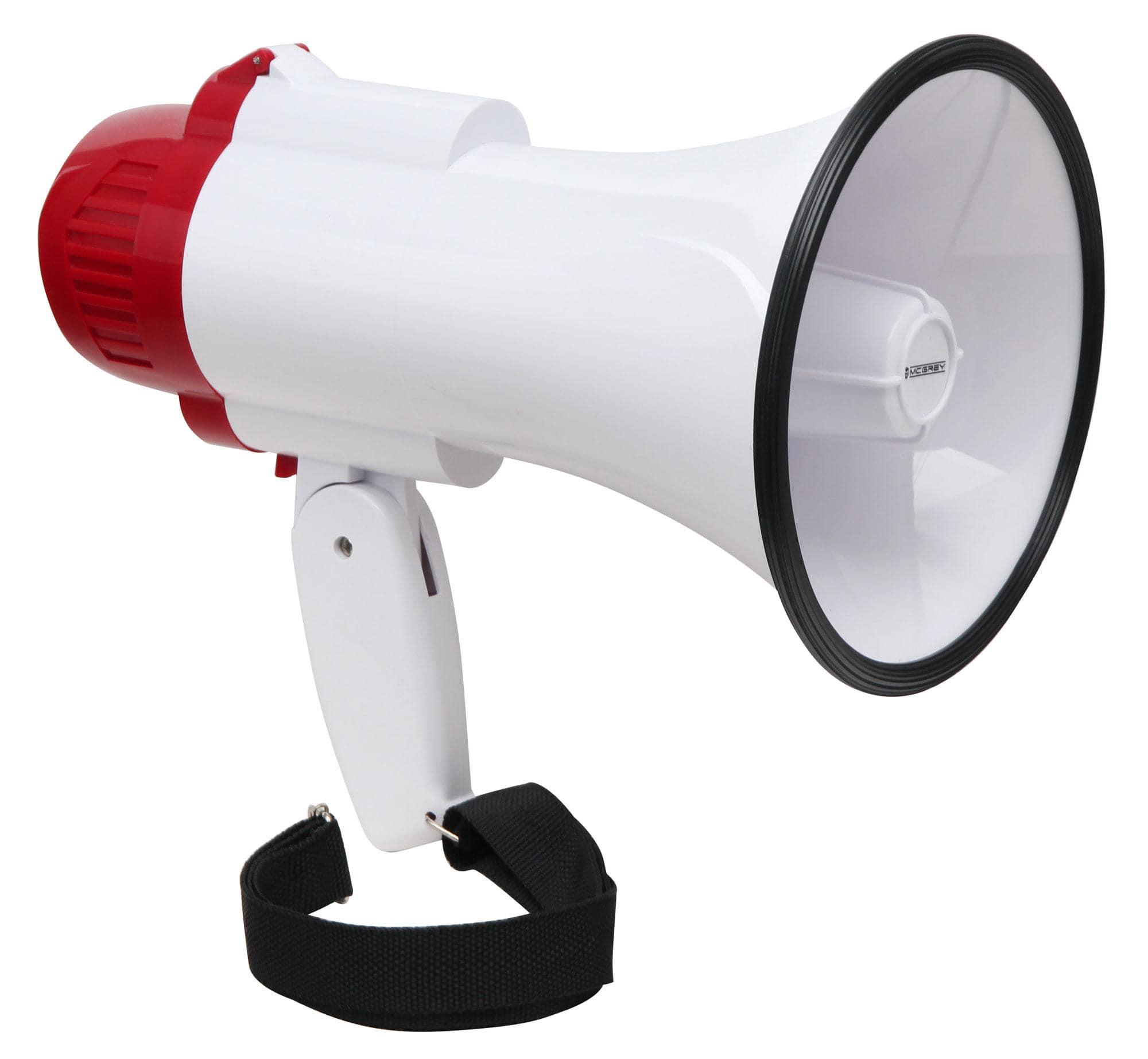 McGrey MP 100RS Megaphon, max. 30 Watt, 500m