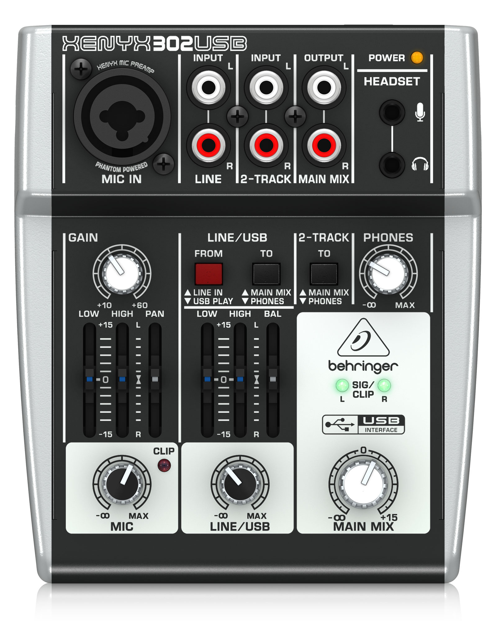 Mischpulte - Behringer Xenyx 302 USB Mixer - Onlineshop Musikhaus Kirstein