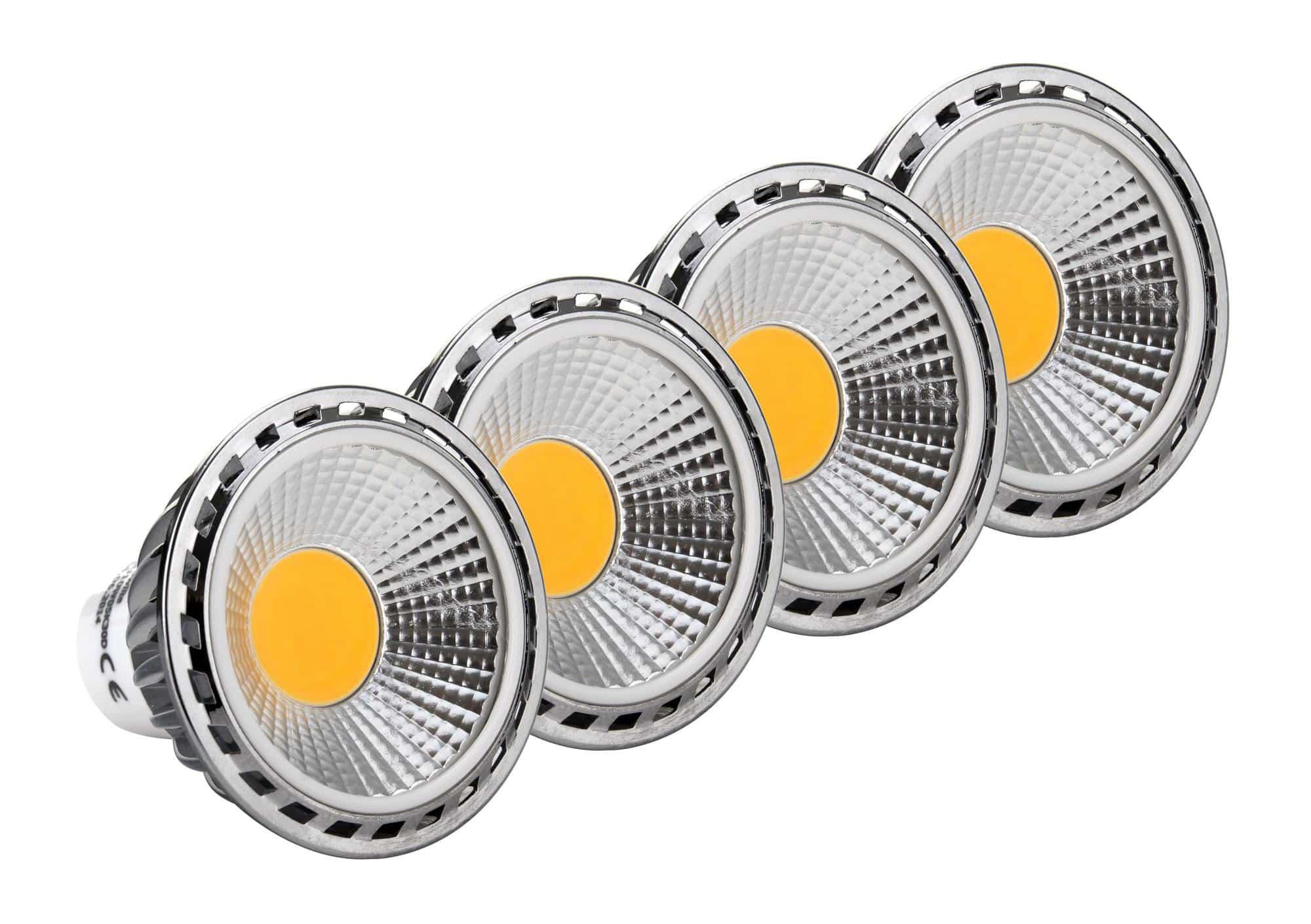 4x set showlite led spotlight gu10w05k30n 5 watt 330 lumen socket gu10 3000 kelvin. Black Bedroom Furniture Sets. Home Design Ideas