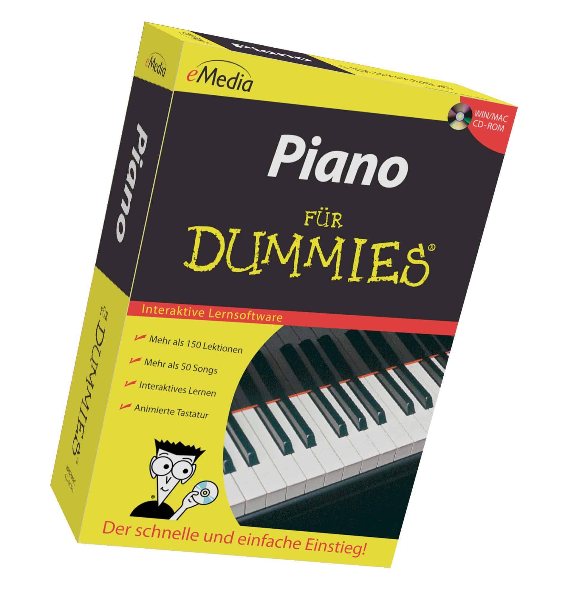 Klavierlernen - eMedia Piano für Dummies Lernsoftware - Onlineshop Musikhaus Kirstein