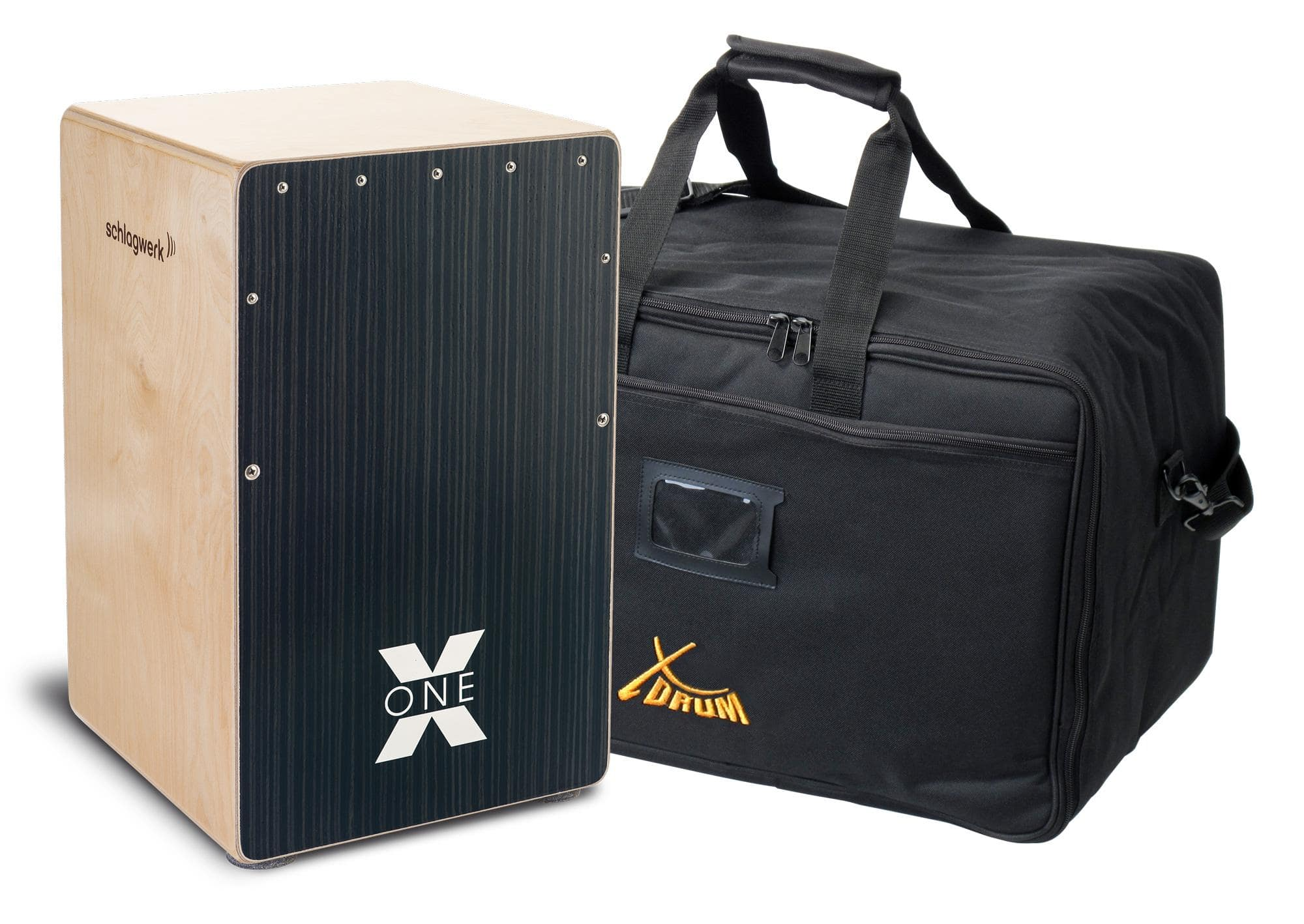 Schlagwerk CP160 Cajon X One Hard Coal Stripes Set inkl. Tasche