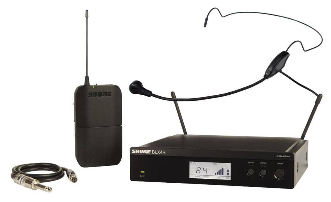 Drahtlossysteme - Shure BLX14R S8 Rack Funksystem Set inkl. HS 65 Headsetmikrofon - Onlineshop Musikhaus Kirstein