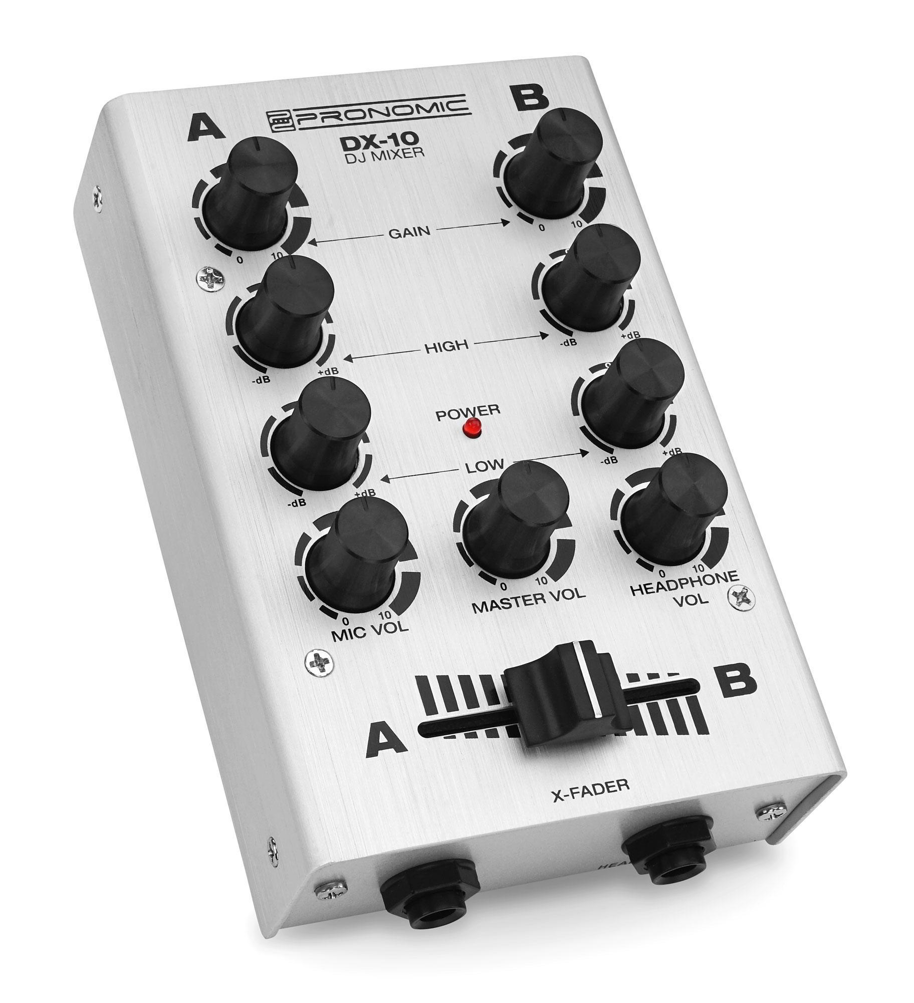 Djmixer - Pronomic DX 10SL DJ Mixer Silber - Onlineshop Musikhaus Kirstein