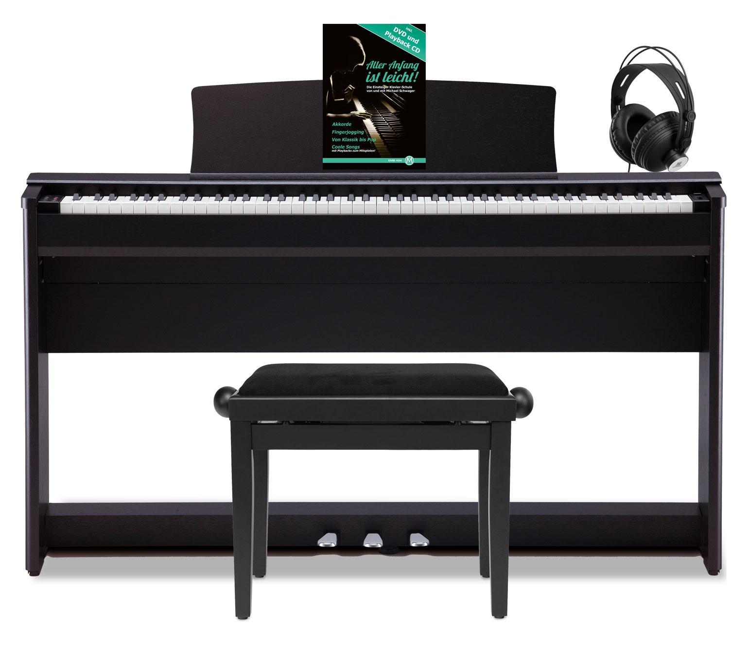 Kawai CL 36 SB Digitalpiano Schwarz Satiniert Set inkl. Bank, Kopfhörer Klavierschule