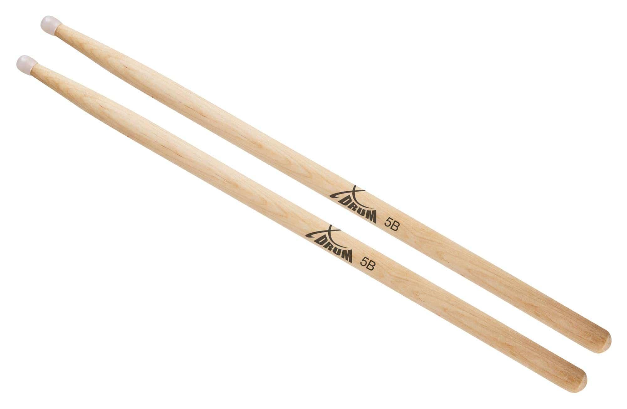 XDrum Schlagzeug Sticks 5B Nylon Tip