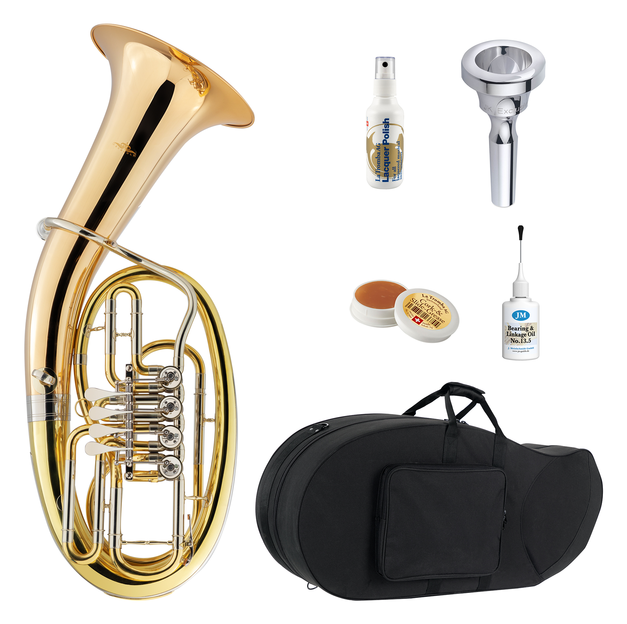 Hoerner - Lechgold TH 19|4L Tenorhorn Deluxe Set - Onlineshop Musikhaus Kirstein