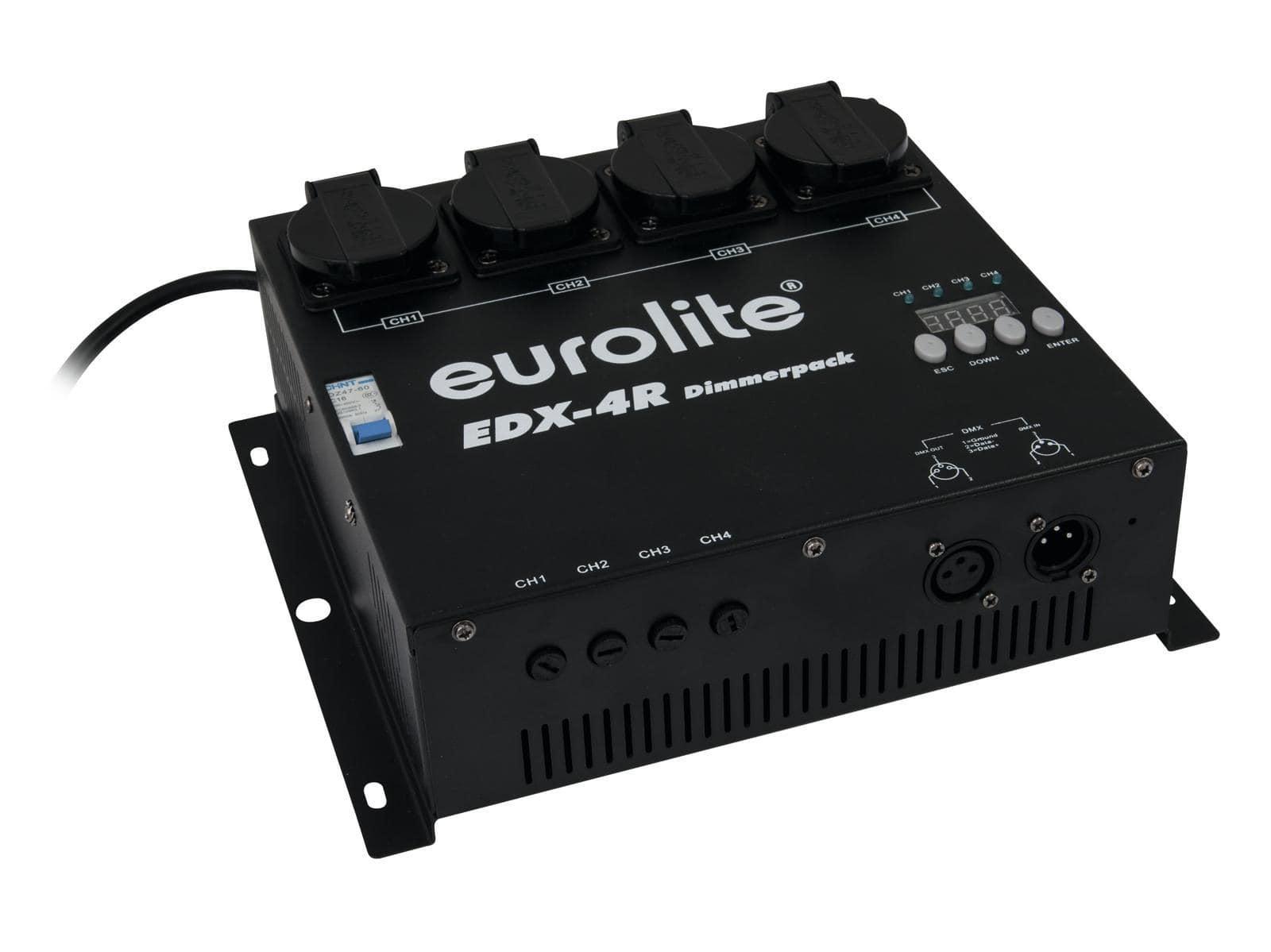 Lichtsteuerung - Eurolite EDX 4R DMX RDM Dimmerpack - Onlineshop Musikhaus Kirstein
