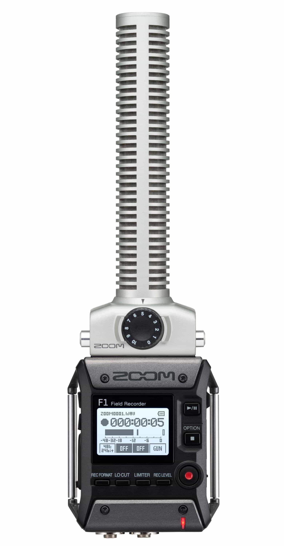 Zoom F1 SP Field Recorder mit Shotgun Mikrofon