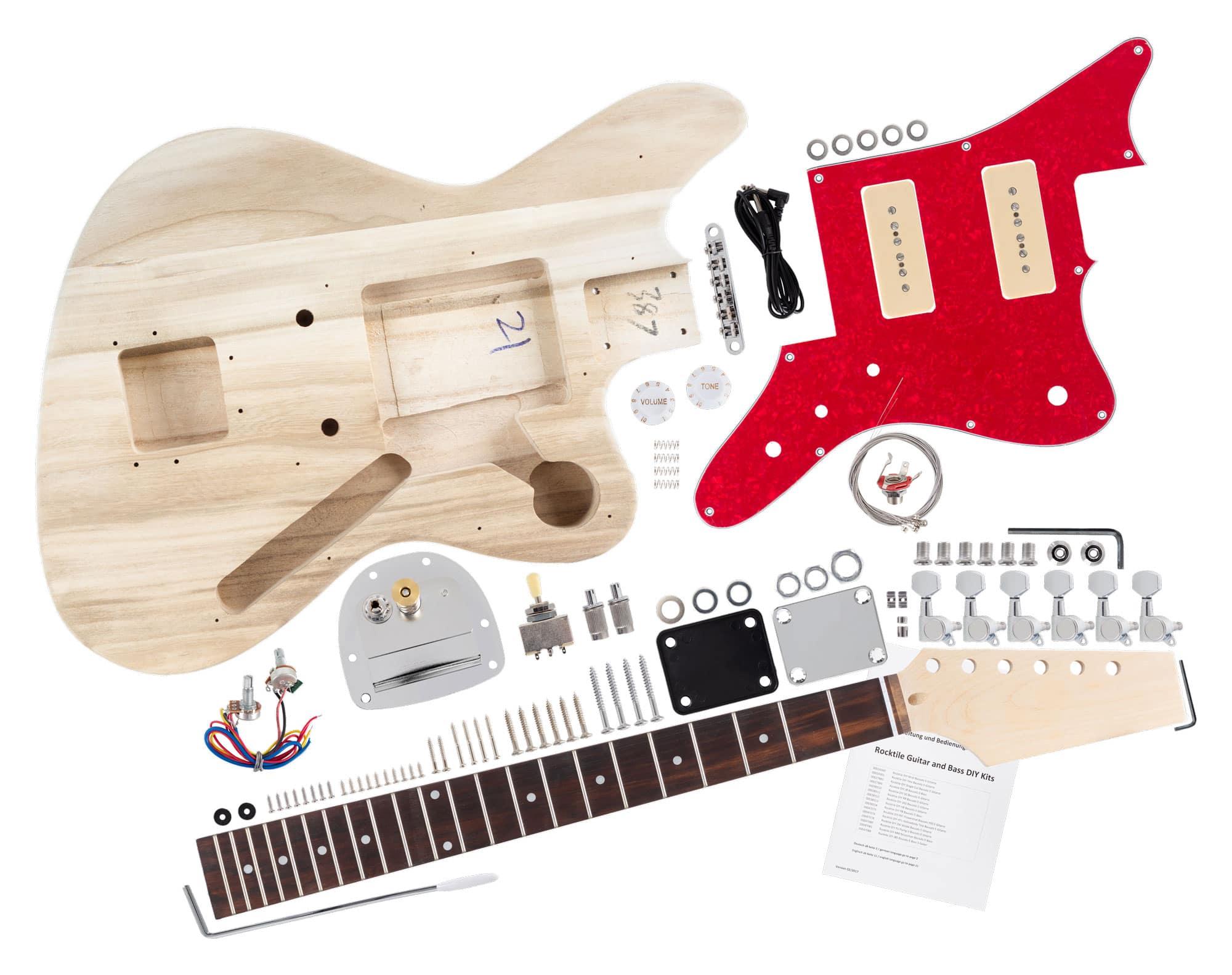 rocktile electric guitar jag style building kit. Black Bedroom Furniture Sets. Home Design Ideas