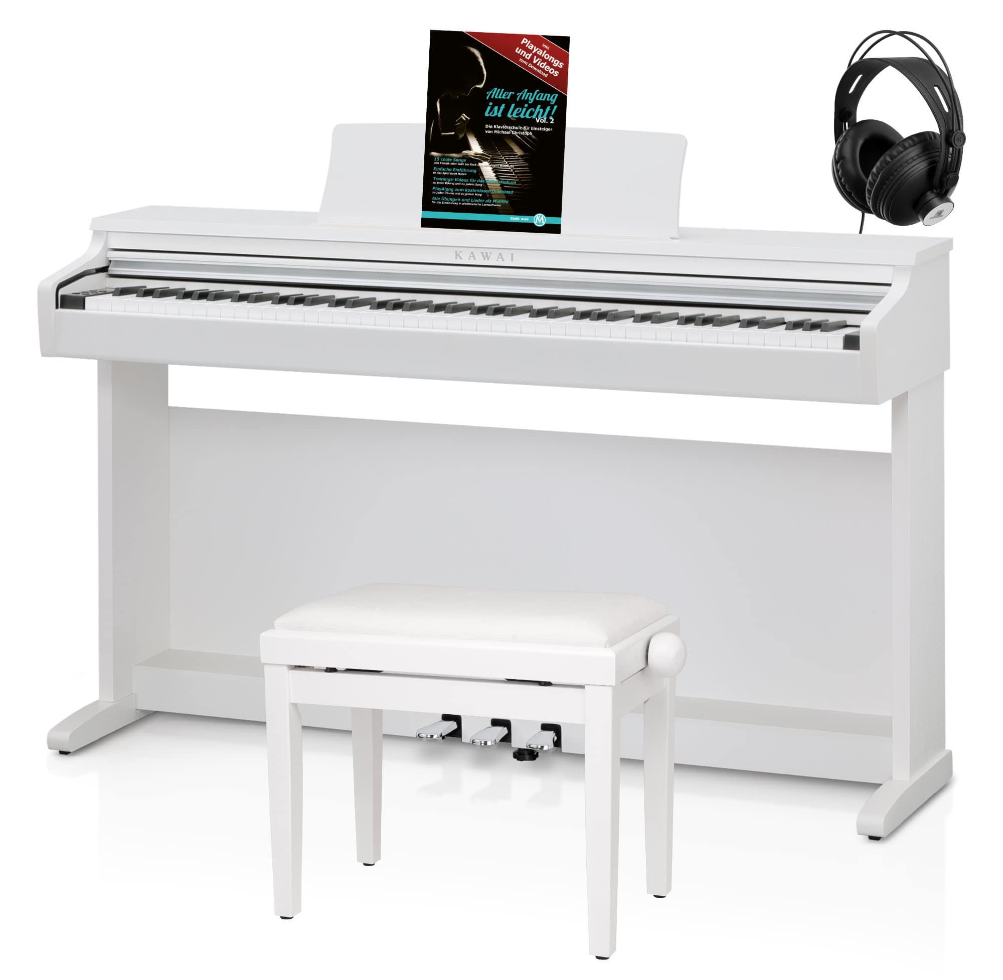Digitalpianos - Kawai KDP120 W Digitalpiano Premium Weiß satiniert Set - Onlineshop Musikhaus Kirstein