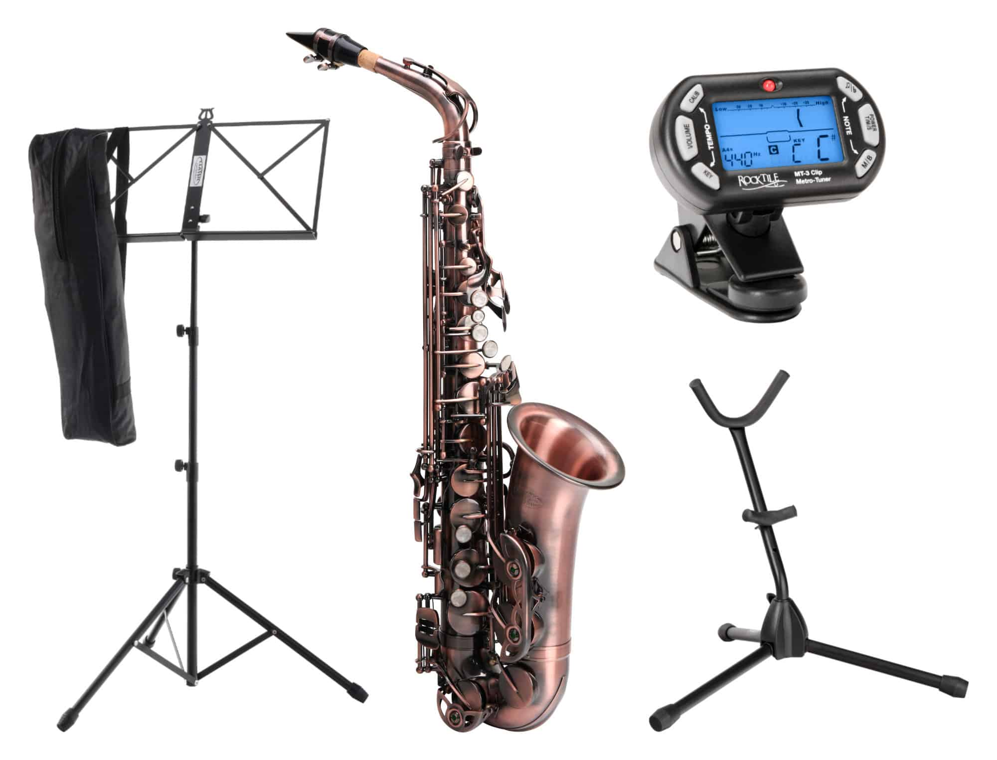 Saxophone - Classic Cantabile Winds AS 450 Antique Red Altsaxophon SET - Onlineshop Musikhaus Kirstein