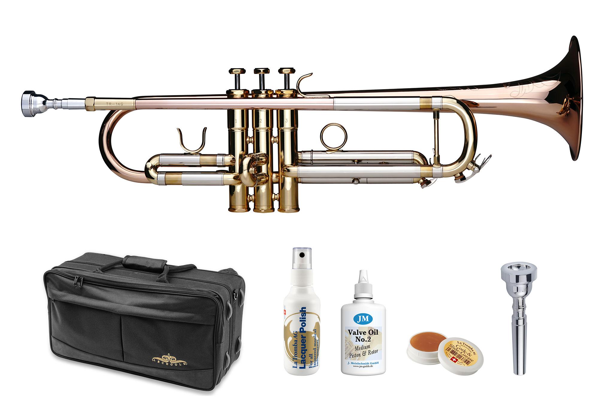 Trompeten - Lechgold TR 14G Bb Trompete lackiert Deluxe Set - Onlineshop Musikhaus Kirstein