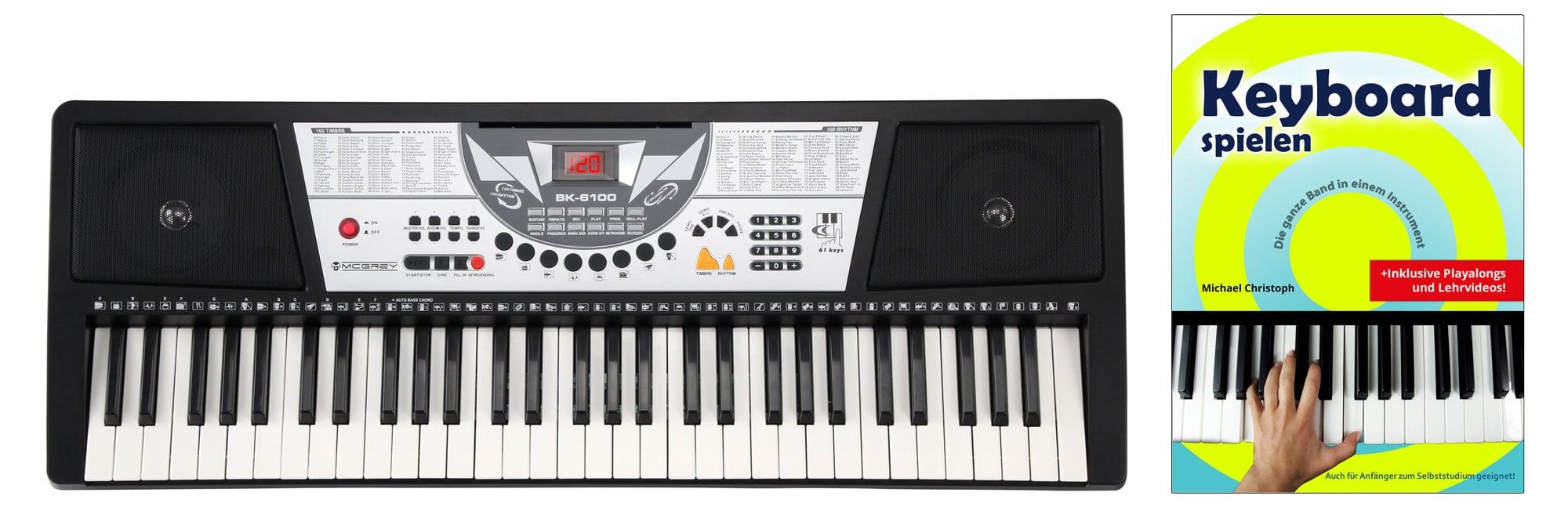 Homekeyboards - McGrey BK 6100 Keyboard mit 61 Tasten, Keyboardschule und Notenhalter - Onlineshop Musikhaus Kirstein