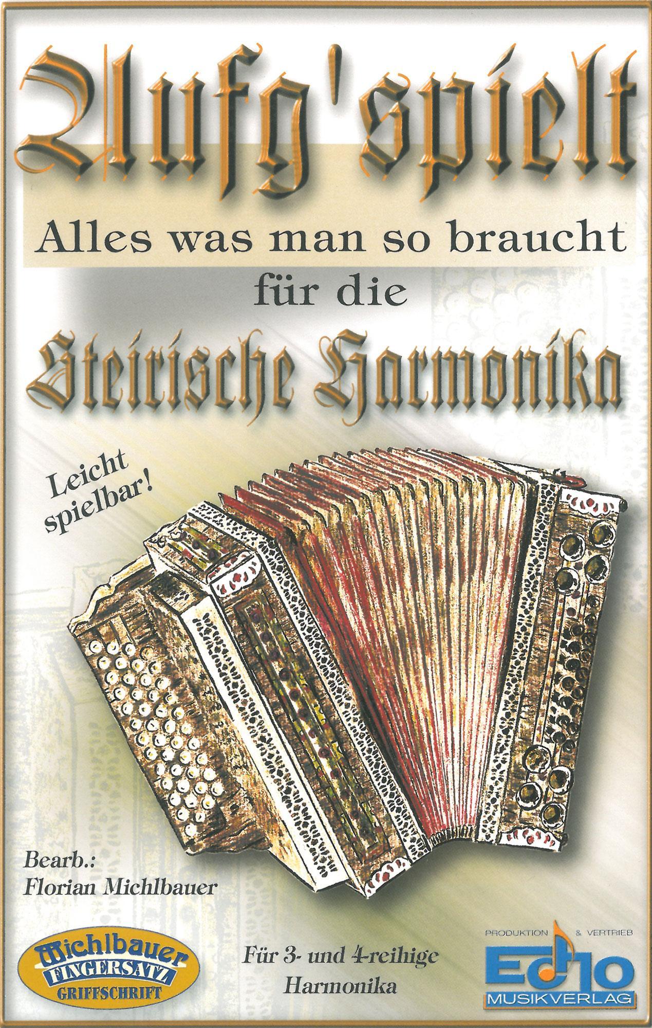 Akkordeonlernen - Aufg'spielt für Steirische Harmonika - Onlineshop Musikhaus Kirstein