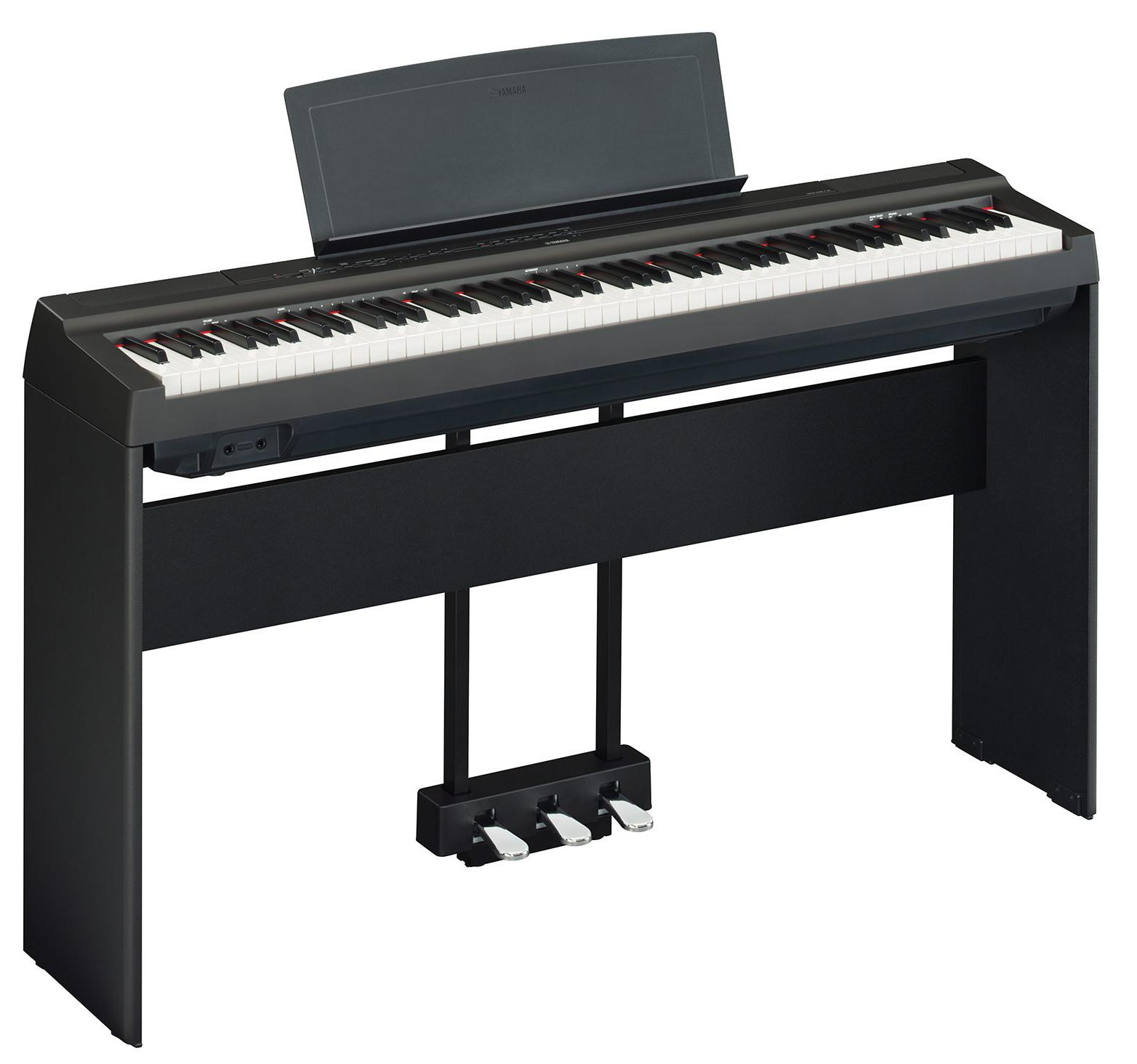 yamaha p 125b stage piano homeset schwarz. Black Bedroom Furniture Sets. Home Design Ideas
