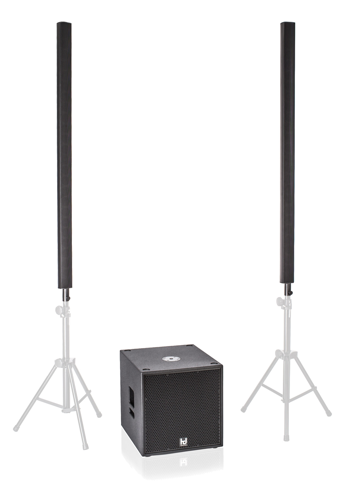Harmonic Design ML16|P15 Multi DSP Aktivsystem 2200 W 2x ML16, 1x P15 Sub, Cover| Taschen Retoure (Zustand sehr gut)