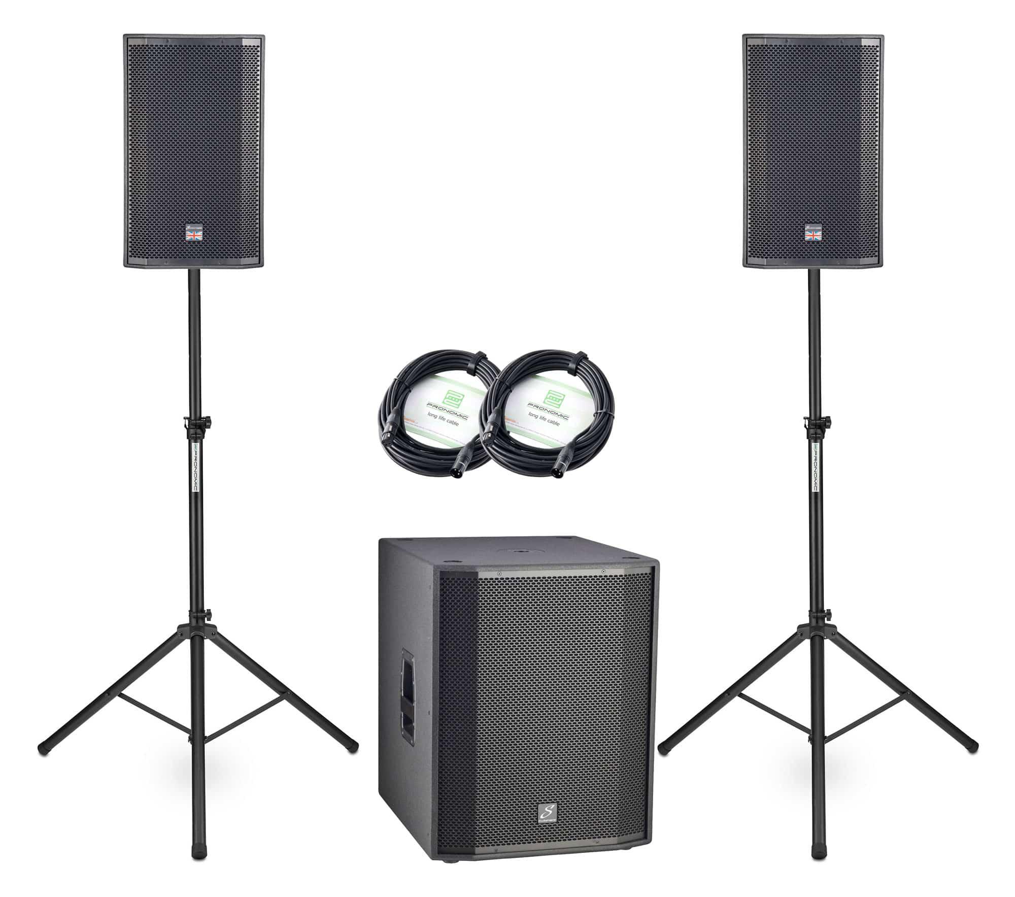 Boxenkomplettanlagen - Studiomaster Ventur 12AP|18SAP 2.1 Set - Onlineshop Musikhaus Kirstein