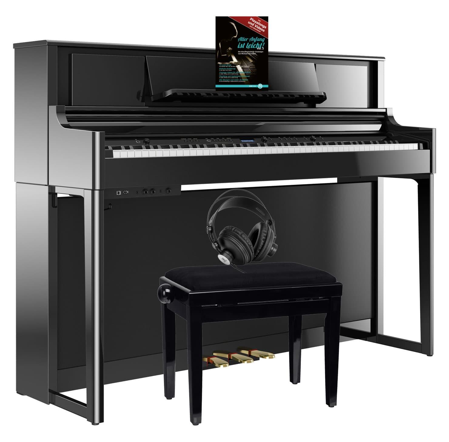 Roland LX705 PE Digitalpiano Set Schwarz Hochglanz