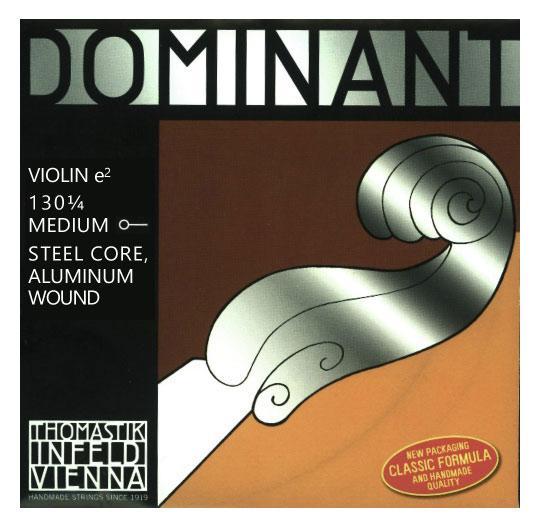 Streichsaiten - Thomastik Dominant 130 1 4 Saite für Violine E 1 4 - Onlineshop Musikhaus Kirstein