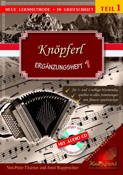 Akkordeonlernen - Knöpferl Ergänzungsheft 1 CD - Onlineshop Musikhaus Kirstein