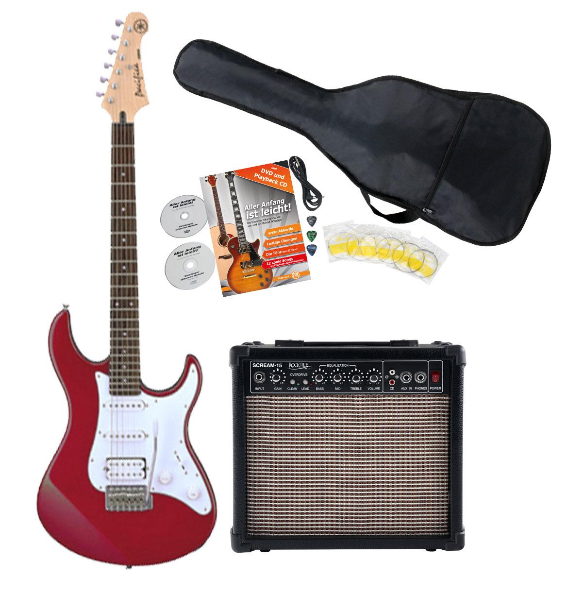 Yamaha Pacifica 012 RM Red E Gitarre Starter Set