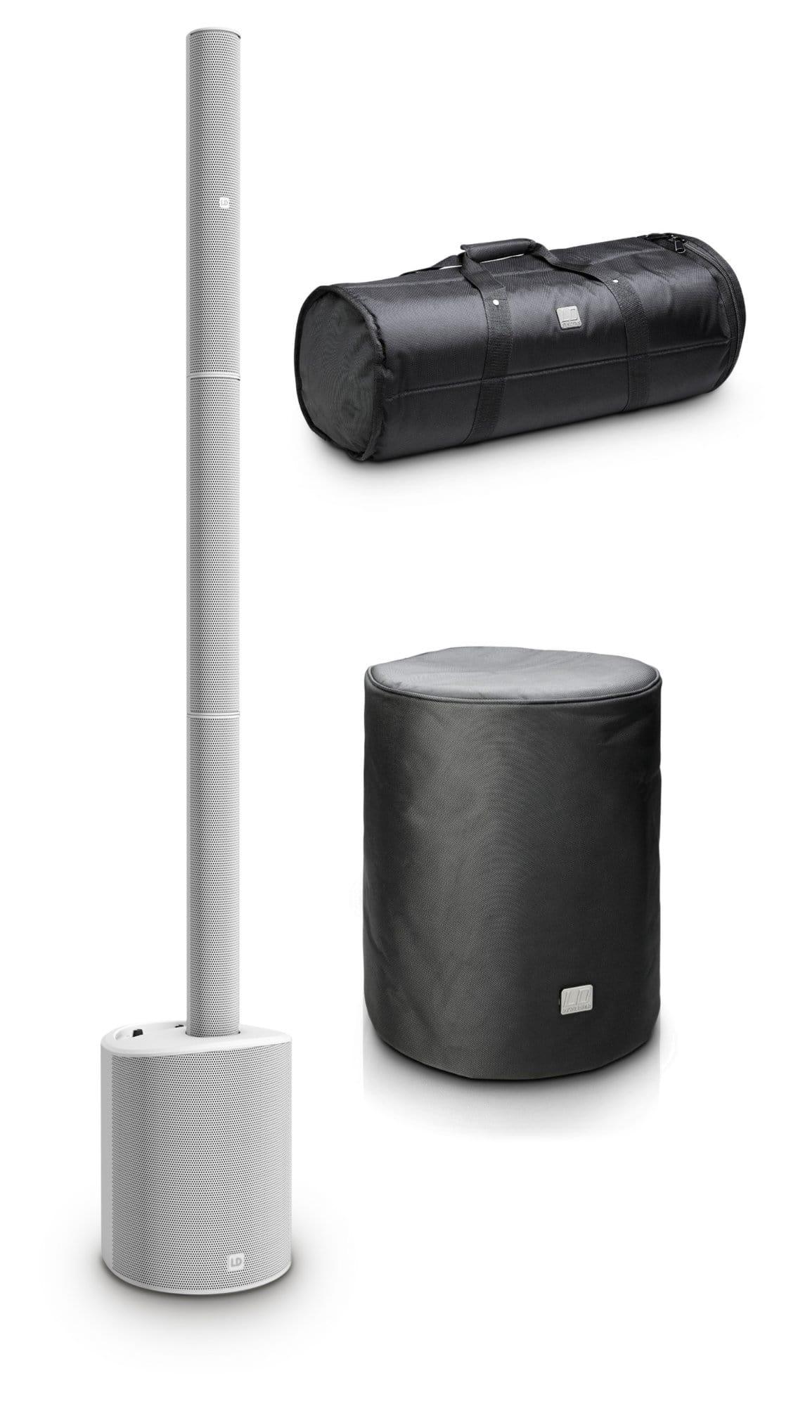 Paboxen - LD Systems Maui 5 GO 100 Weiß Set mit Taschen - Onlineshop Musikhaus Kirstein
