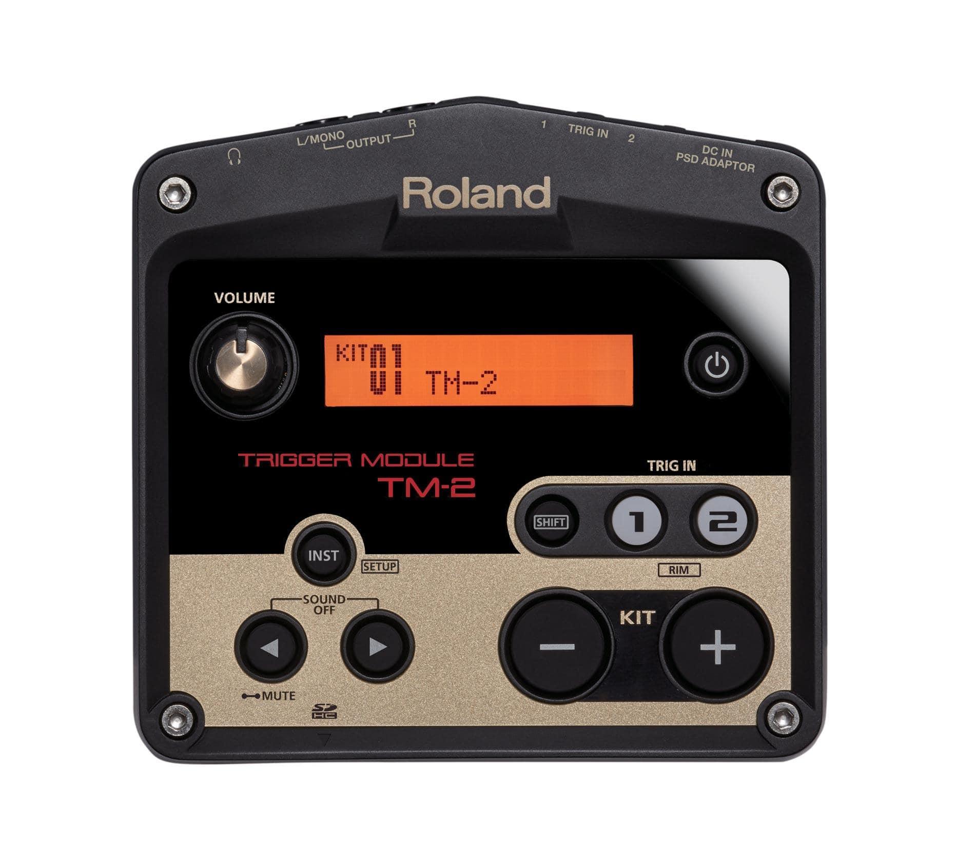 roland tm 2 drum trigger modul mit sounds 2 trigger inputs kirstein music shop. Black Bedroom Furniture Sets. Home Design Ideas