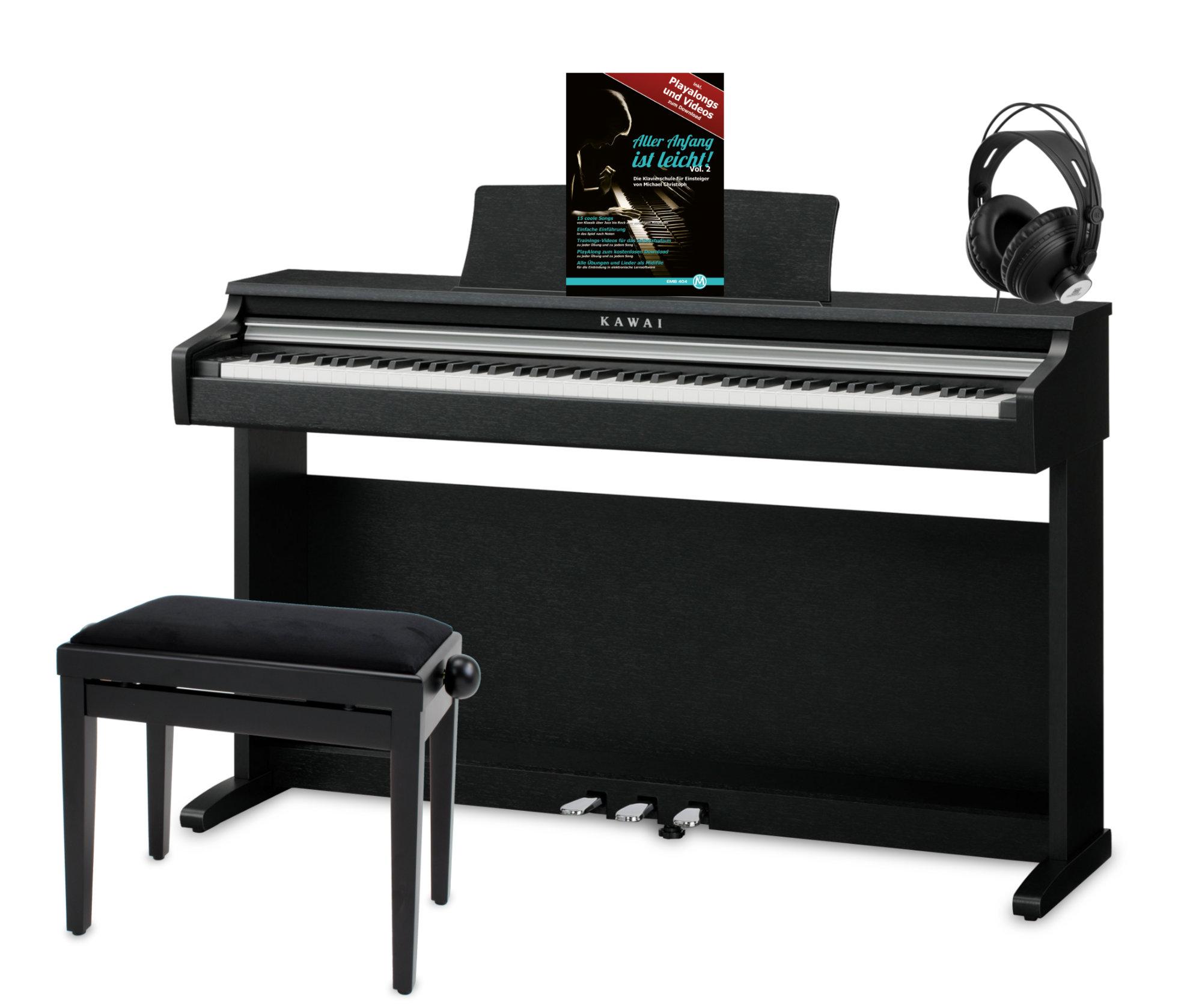 Kawai CN17 Digitalpiano Set inkl. Pianobank, Kopfhörer Klavierschule