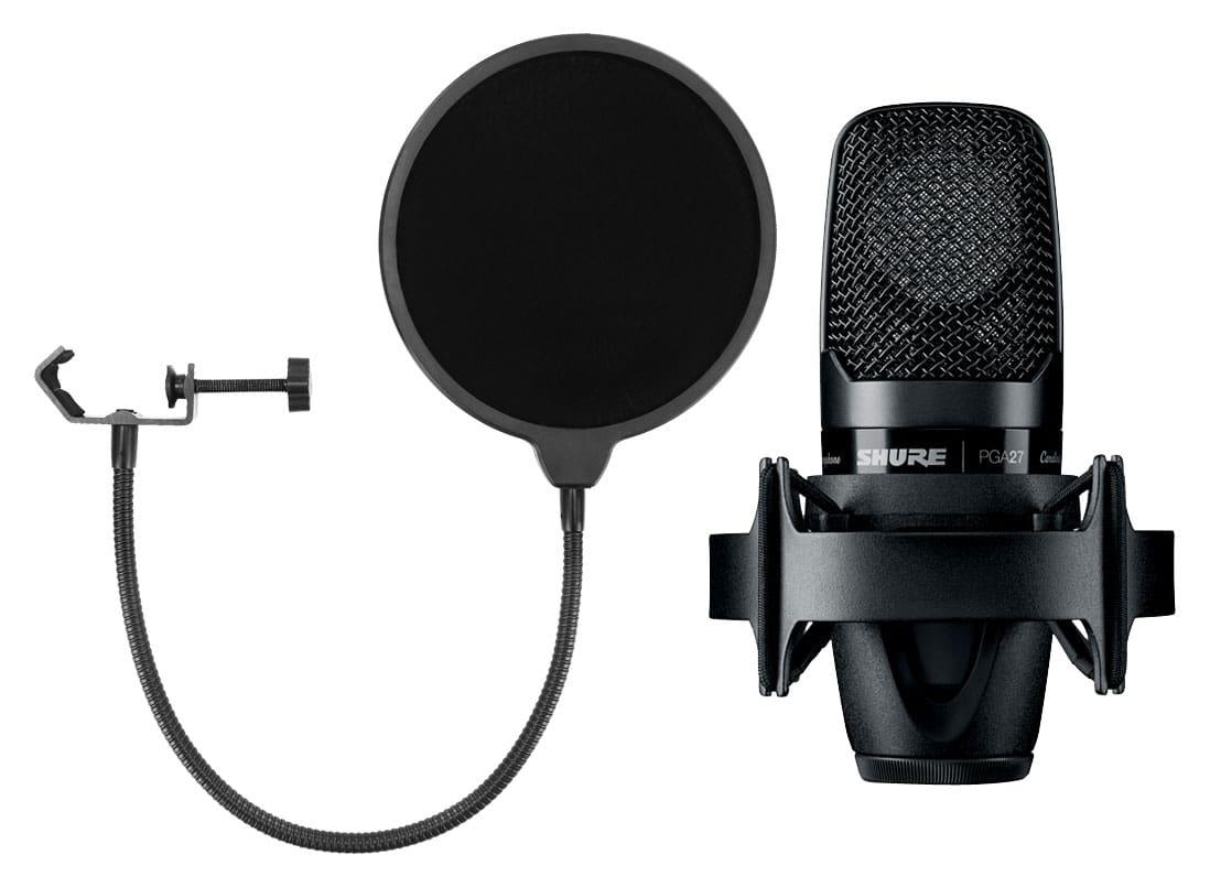 Mikrofone - Shure PGA 27 LC Kondensatormikrofon Set inkl. Popkiller - Onlineshop Musikhaus Kirstein