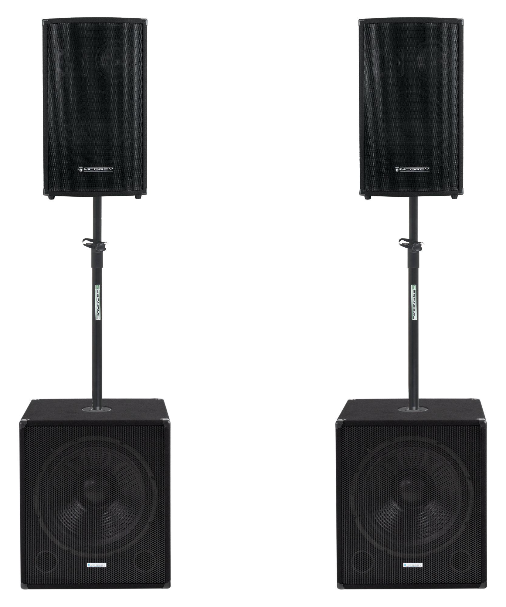 Boxenkomplettanlagen - McGrey Powerstage 1812 2.2 PA Anlage 1500 Watt - Onlineshop Musikhaus Kirstein