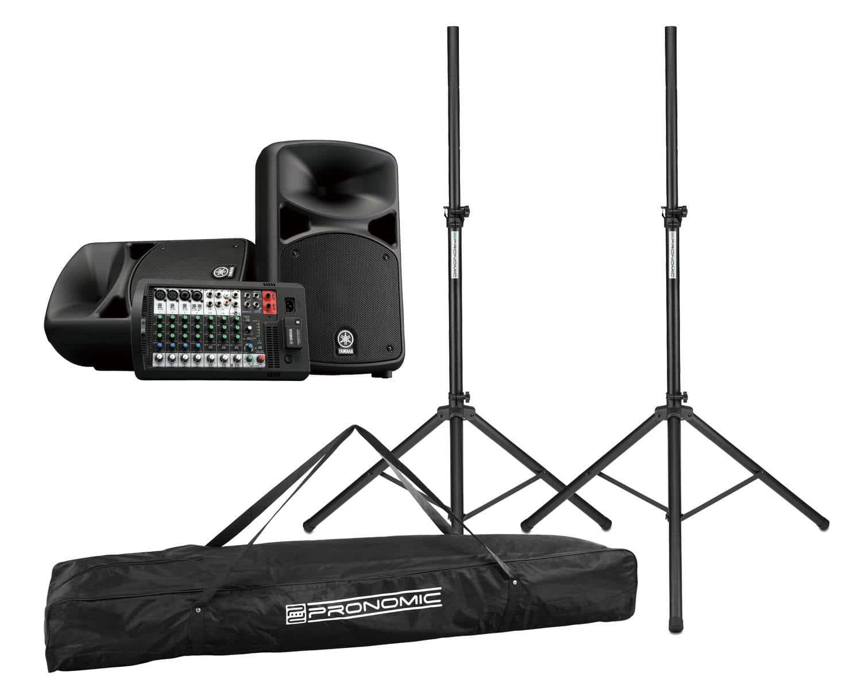 Boxenkomplettanlagen - Yamaha STAGEPAS 600BT Set inkl. Boxenstativ Tasche - Onlineshop Musikhaus Kirstein