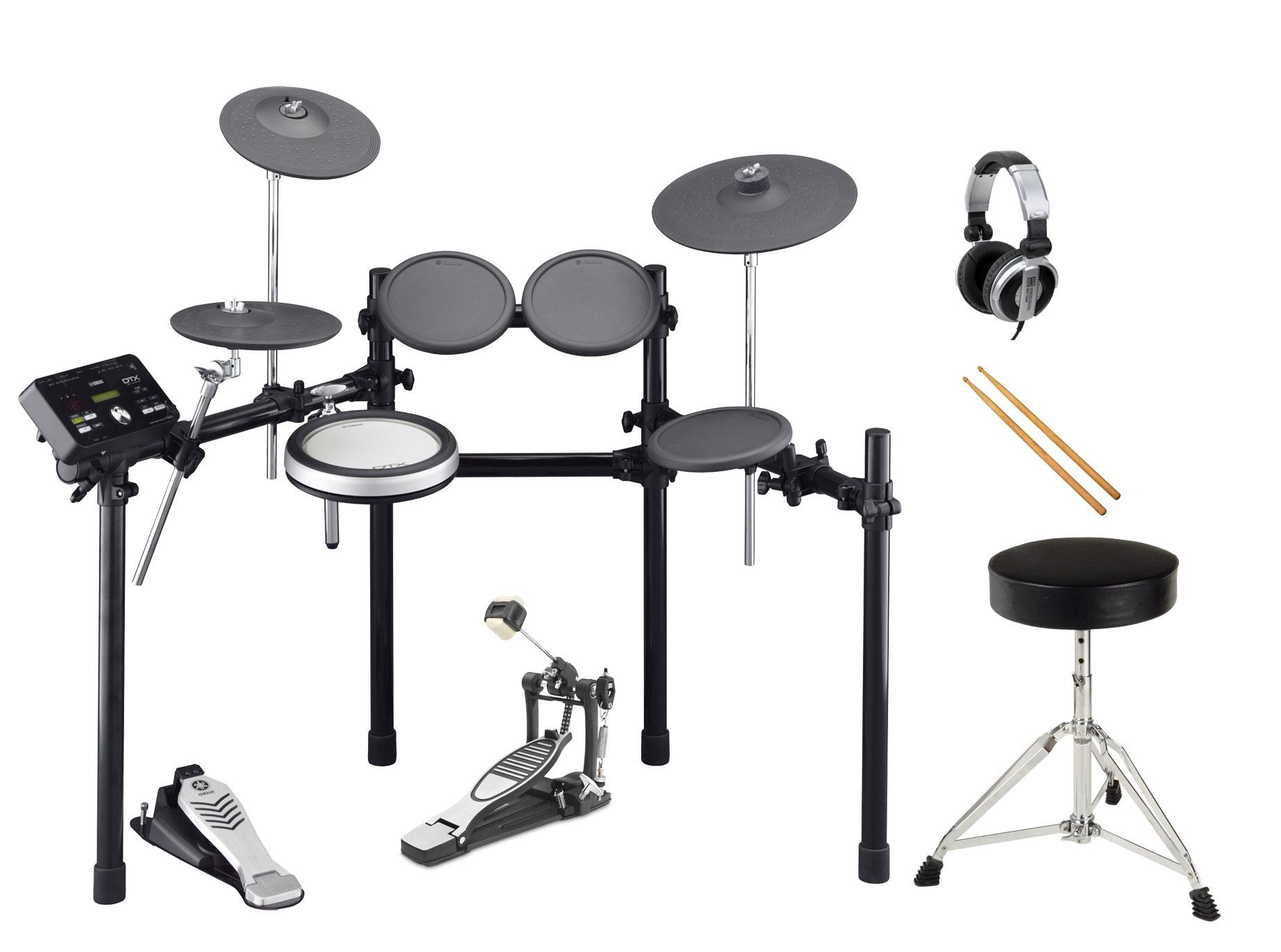 Yamaha DTX522K Compact E Drum SET inkl. Fußmaschine, Hocker, Sticks und Kopfhörer