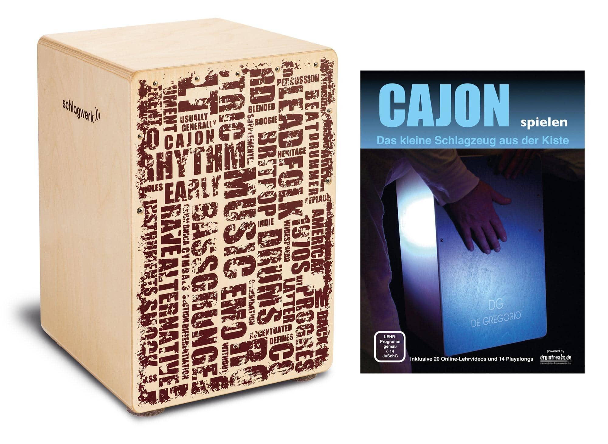 Schlagwerk CP119 Cajon X One Styles Medium Set inkl. Cajonschule