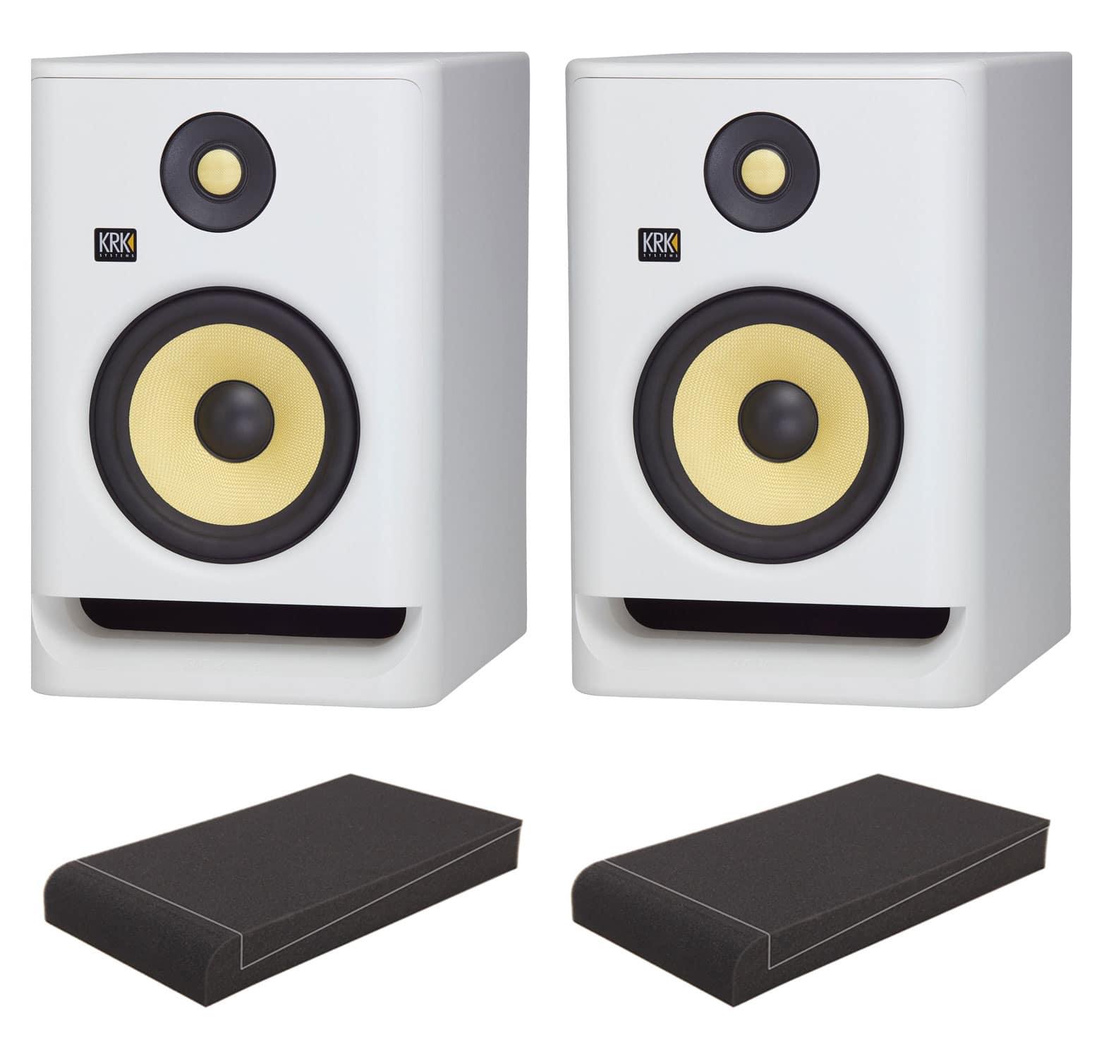 Studiomonitore - KRK ROKIT RP7 G4 White Noise ISO Set - Onlineshop Musikhaus Kirstein