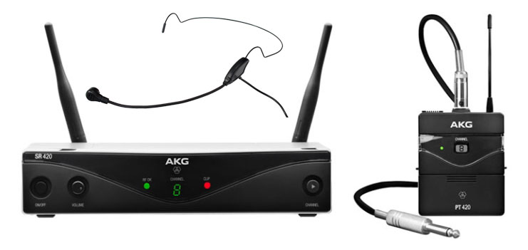Drahtlossysteme - AKG WMS420 Sport Set Band M inkl. HS 65 EA Headset - Onlineshop Musikhaus Kirstein