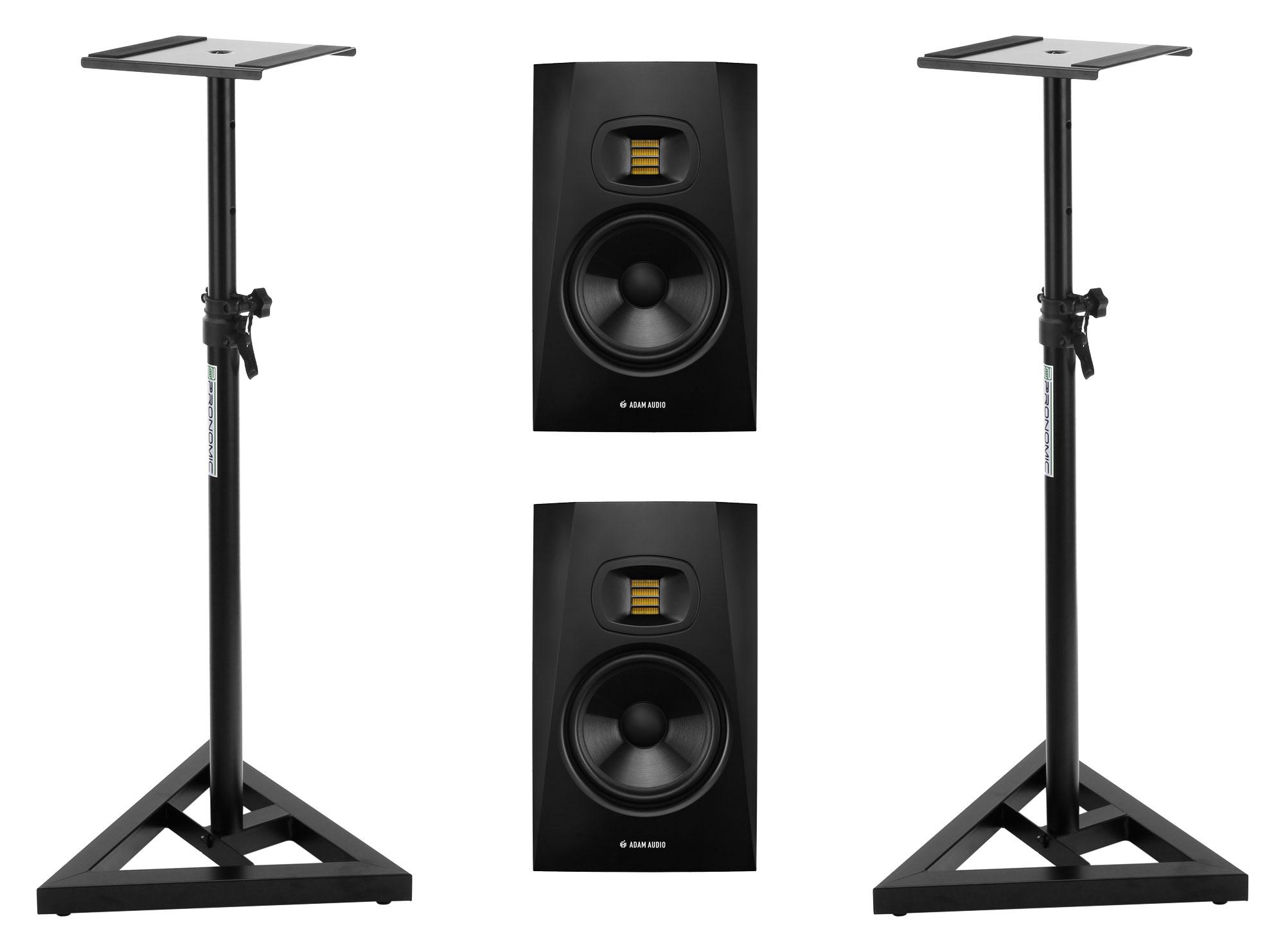 Studiomonitore - Adam Audio T7V Set inkl. Boxenstative - Onlineshop Musikhaus Kirstein