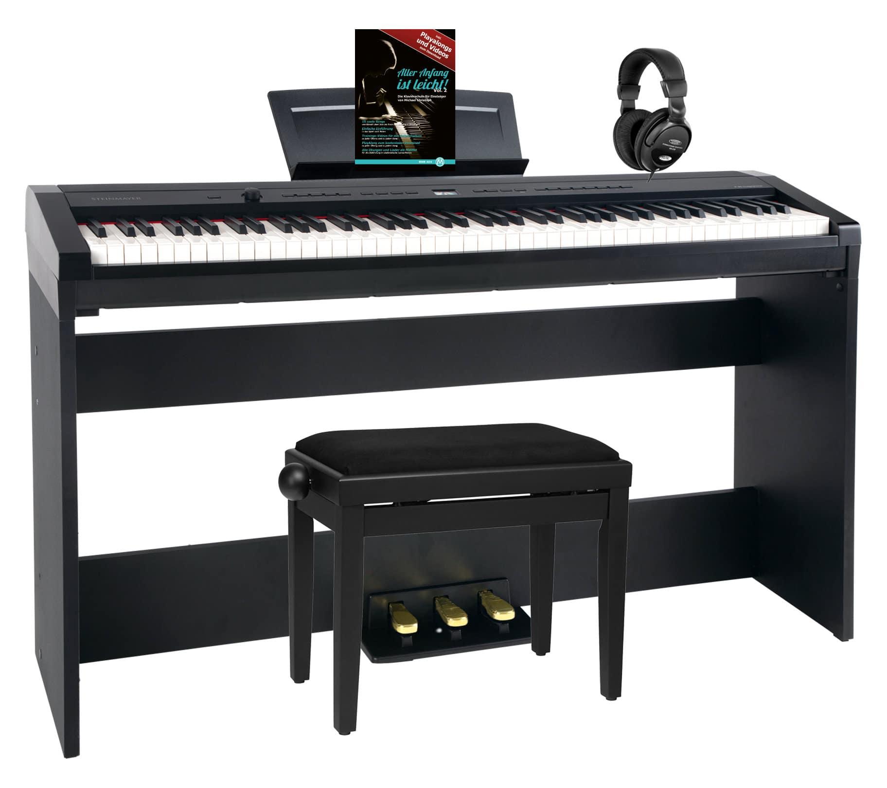 Digitalpianos - Steinmayer P 60 SM Stagepiano Home Set Schwarz - Onlineshop Musikhaus Kirstein