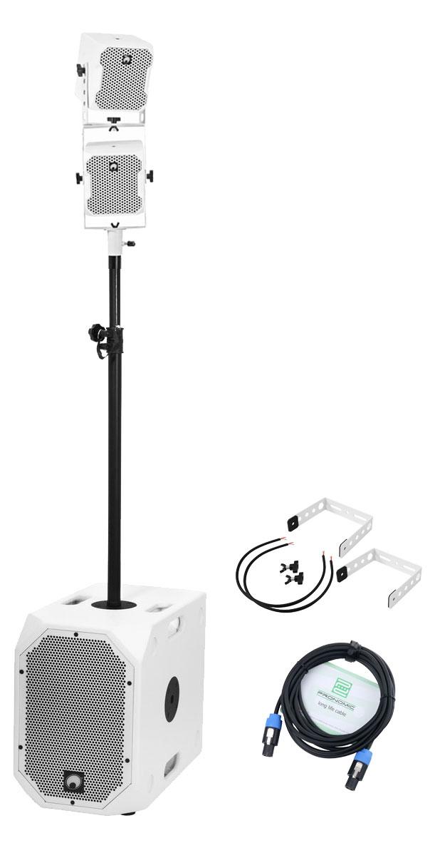 Boxenkomplettanlagen - Omnitronic BOB 2.1 Twin Set Weiß - Onlineshop Musikhaus Kirstein