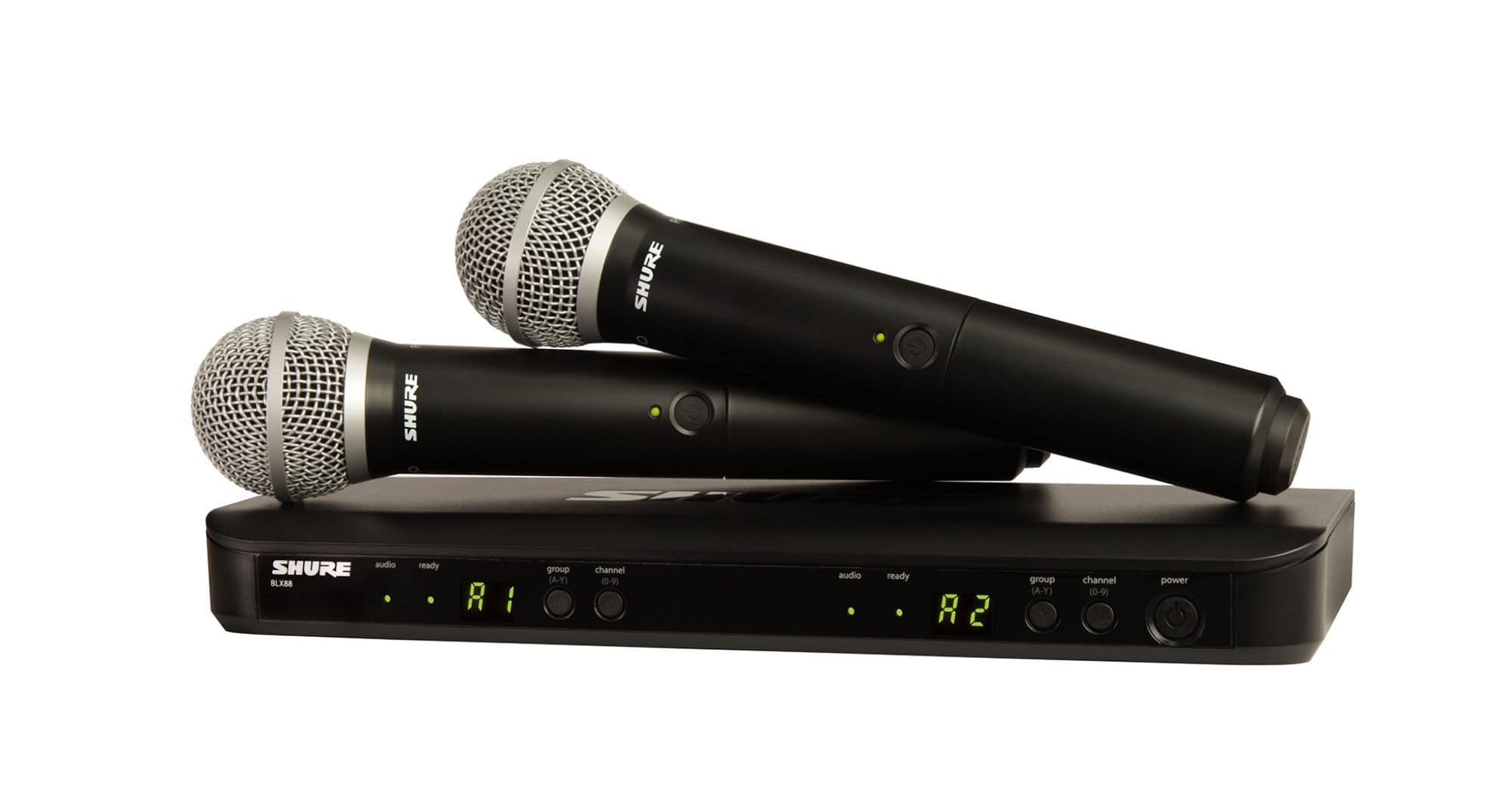 Drahtlossysteme - Shure BLX288 PG58 S8 Dual Vocal Funksystem - Onlineshop Musikhaus Kirstein
