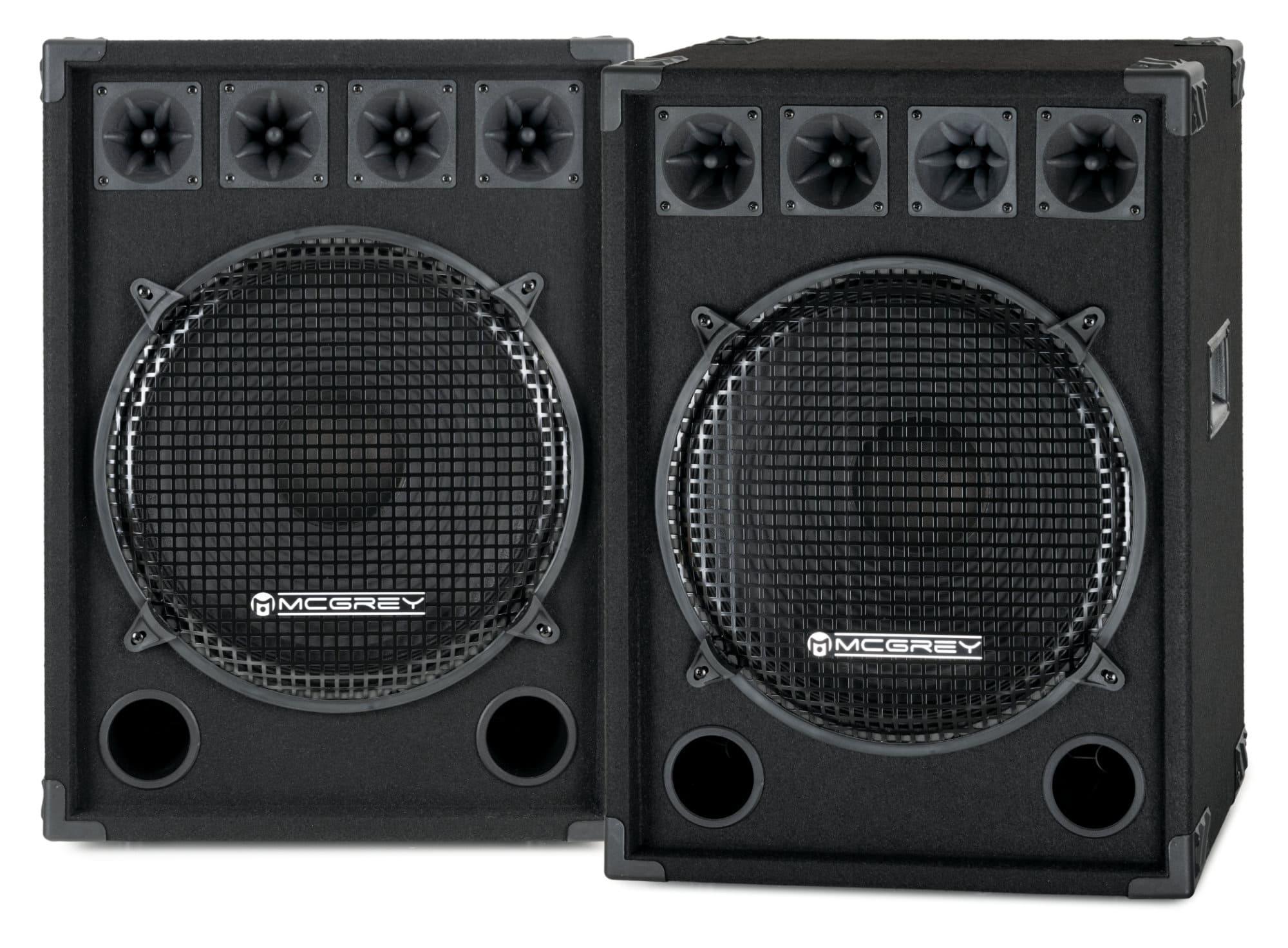 McGrey DJ 1522 Partykeller|DJ Box Paar 2x 800W
